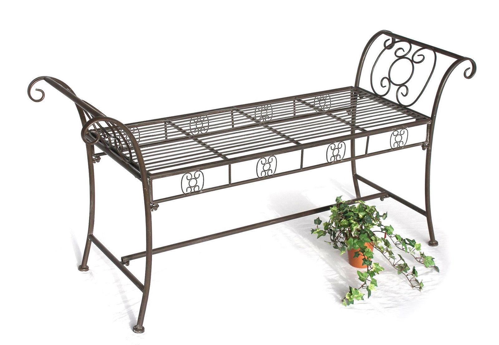 bank dy140491 aus metall gartenbank sitzbank 2 sitzer 138. Black Bedroom Furniture Sets. Home Design Ideas