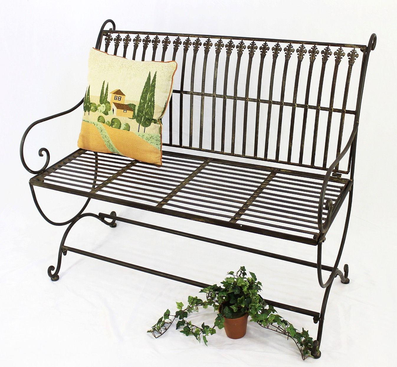 bank finca 063 2 sitzer aus metall gartenbank sitzbank baumbank 102 cm braun ebay. Black Bedroom Furniture Sets. Home Design Ideas