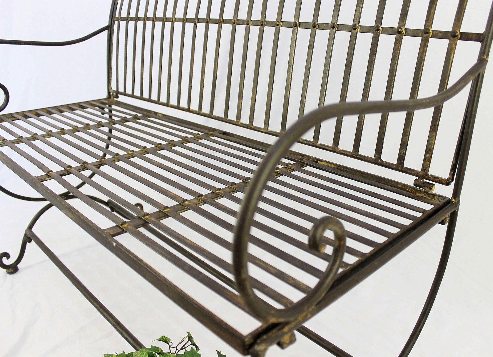 bank finca 063 2 sitzer aus metall gartenbank sitzbank baumbank 102 cm braun 4019220600637 ebay. Black Bedroom Furniture Sets. Home Design Ideas