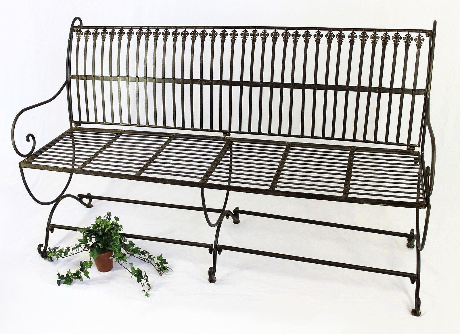 bank finca 063 jo 3 sitzer aus metall gartenbank sitzbank baumbank 153 cm braun 4019230600634 ebay. Black Bedroom Furniture Sets. Home Design Ideas