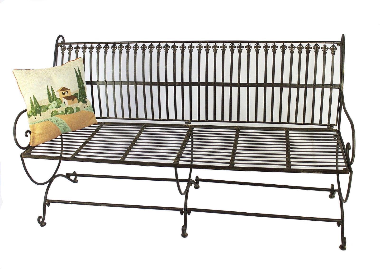 bank finca 063 jo 3 sitzer aus metall gartenbank sitzbank baumbank 153 cm braun ebay. Black Bedroom Furniture Sets. Home Design Ideas