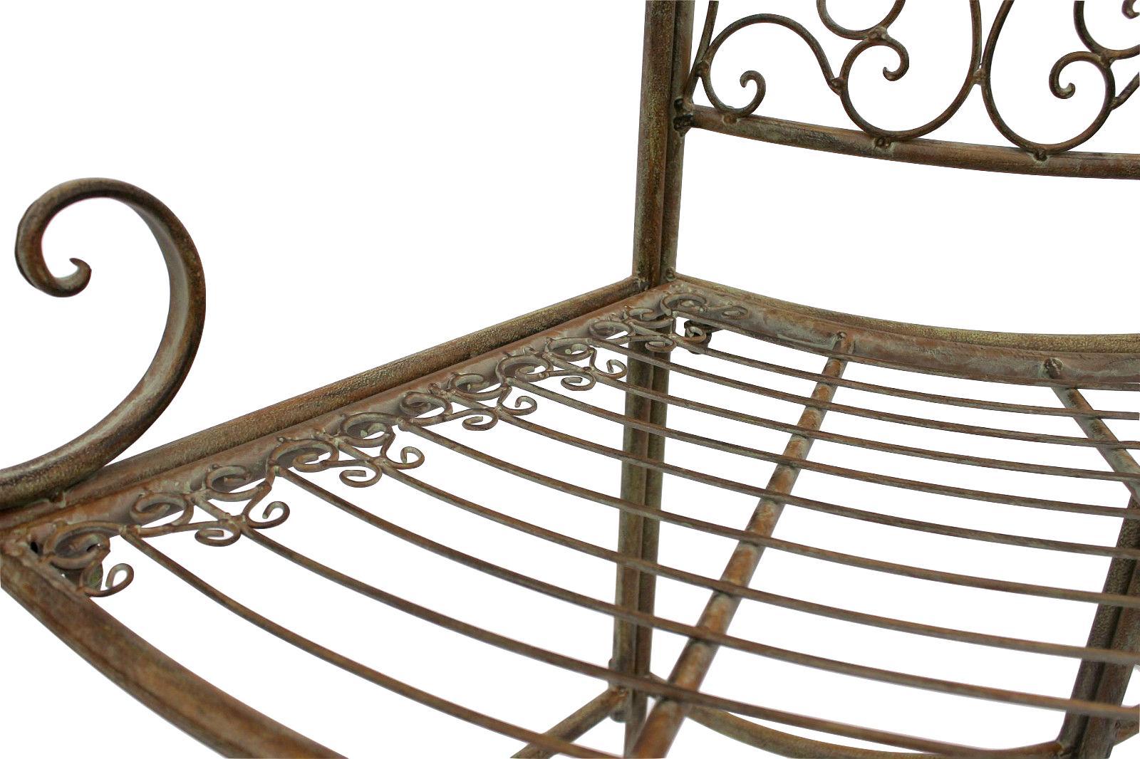 bank jc112287 aus metall gartenbank sitzbank baumbank 2 sitzer 135 cm rundbank 4019111122873 ebay. Black Bedroom Furniture Sets. Home Design Ideas