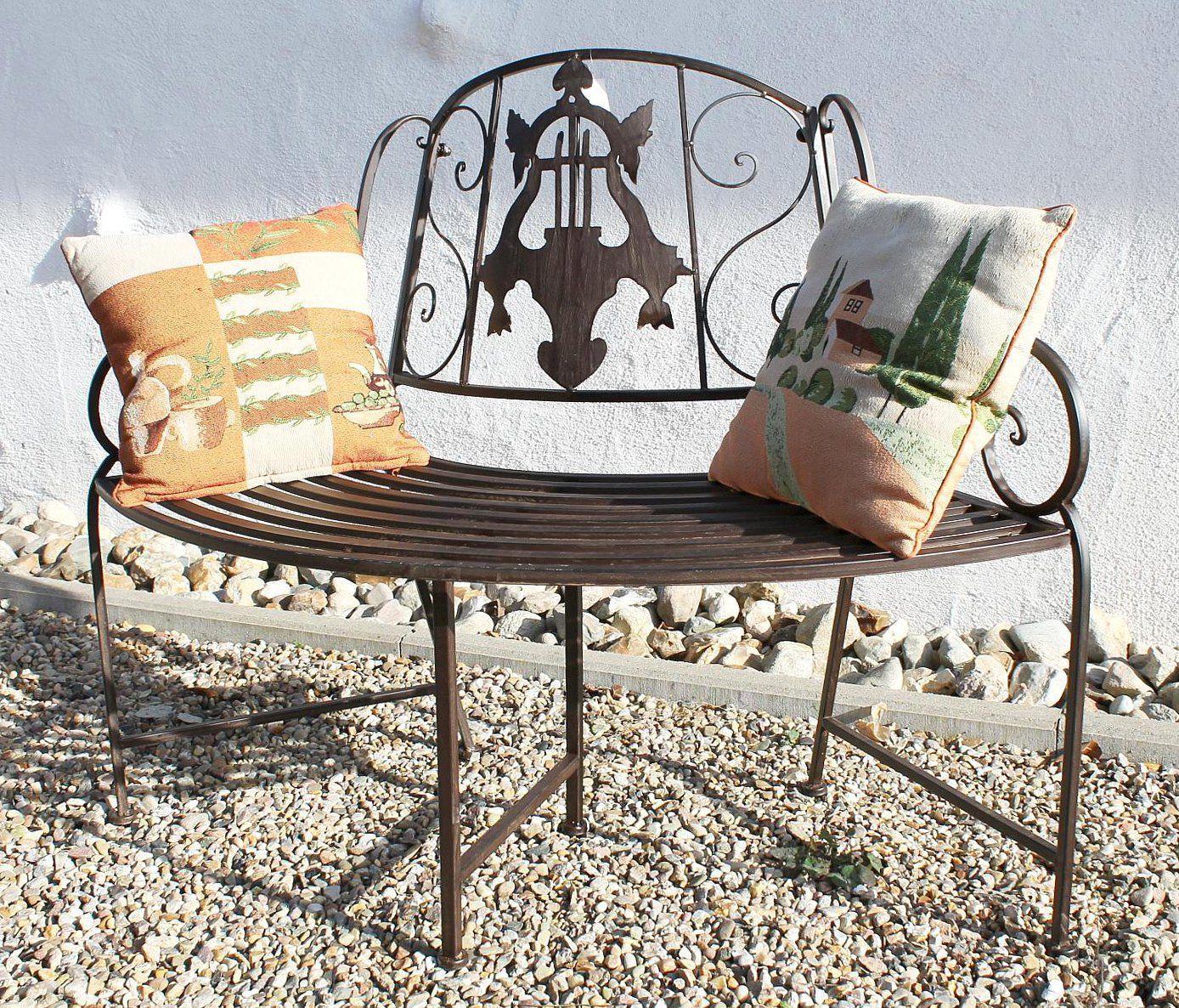 bank jd130838 aus metall gartenbank sitzbank baumbank 2. Black Bedroom Furniture Sets. Home Design Ideas