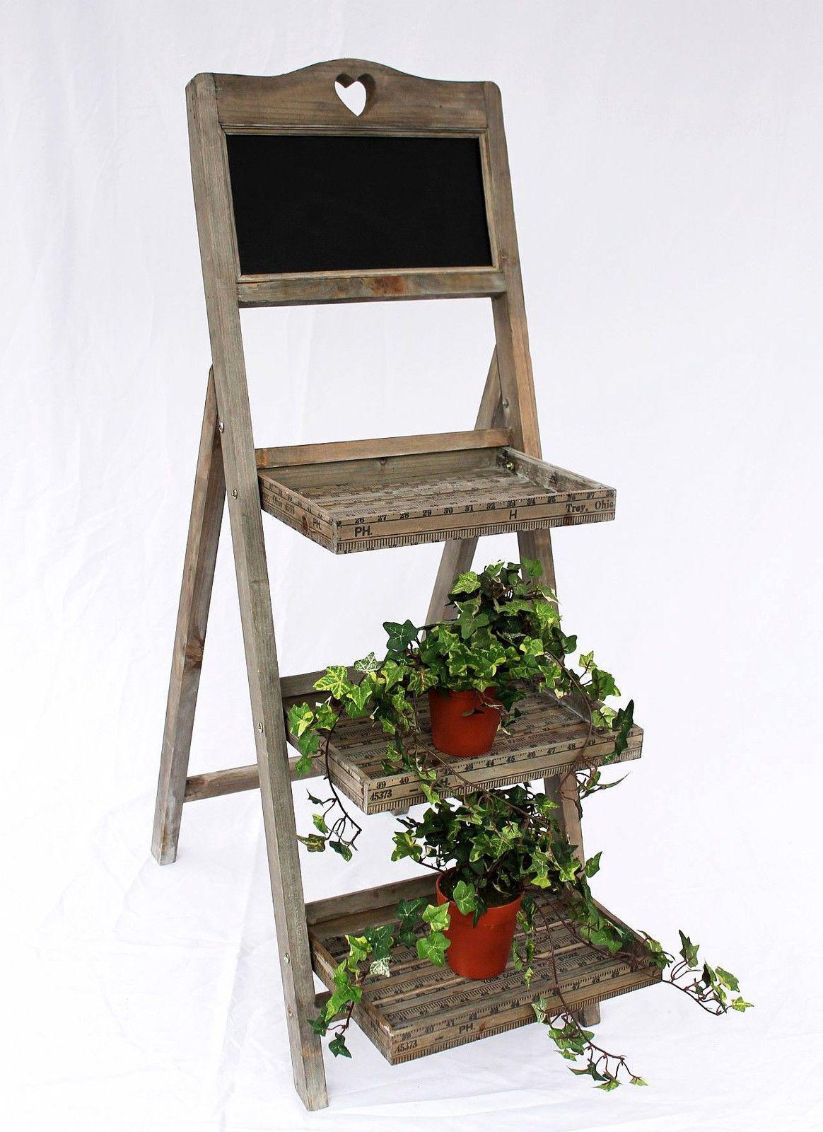 Fleurs escaliers 12061 en bois avec ardoise h 110 cm - Jardiniere etroite ...