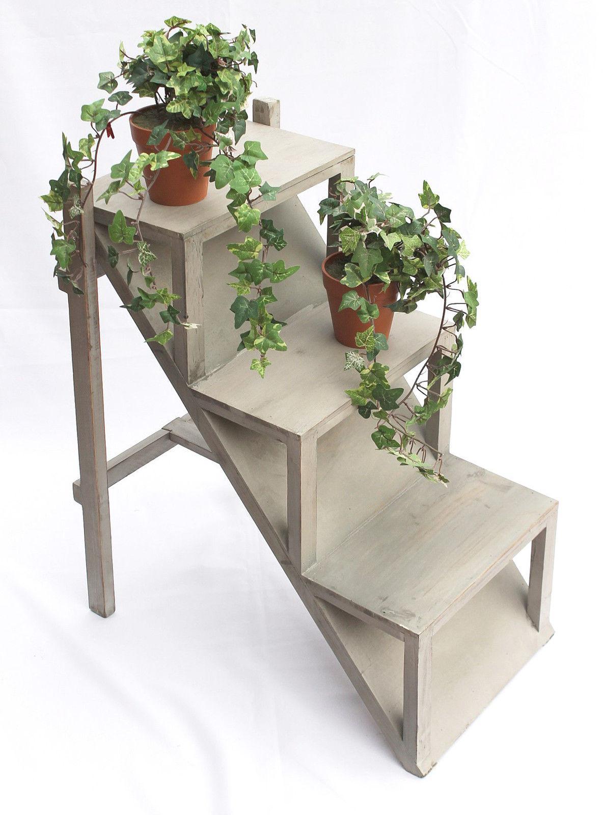 Fleurs escaliers 14b370 en bois 66 cm jardini res pour - Jardiniere etroite ...