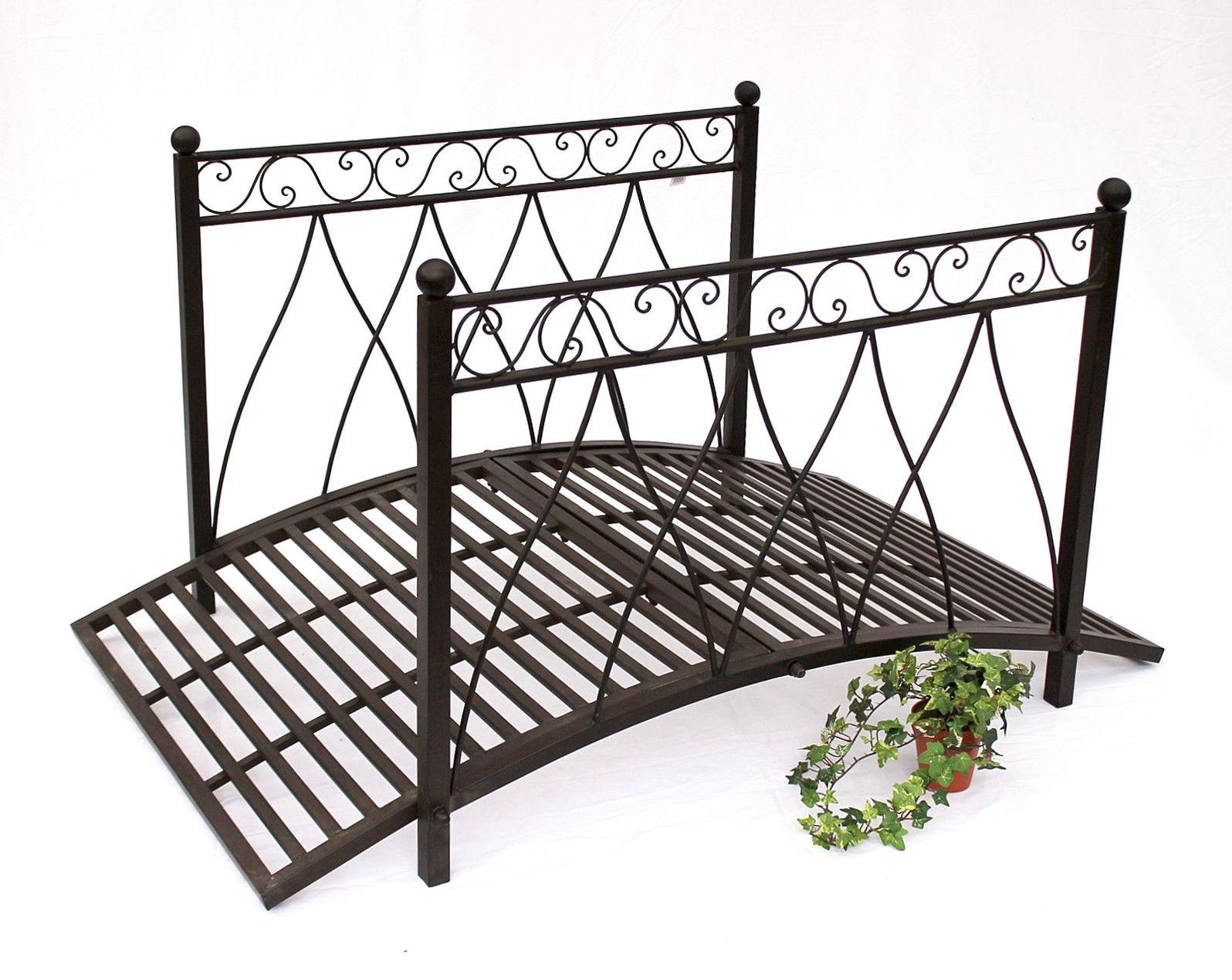 br cke aus metall 111252 eisenbr cke 145 cm gartenbr cke metallbr cke gartendeko ebay. Black Bedroom Furniture Sets. Home Design Ideas
