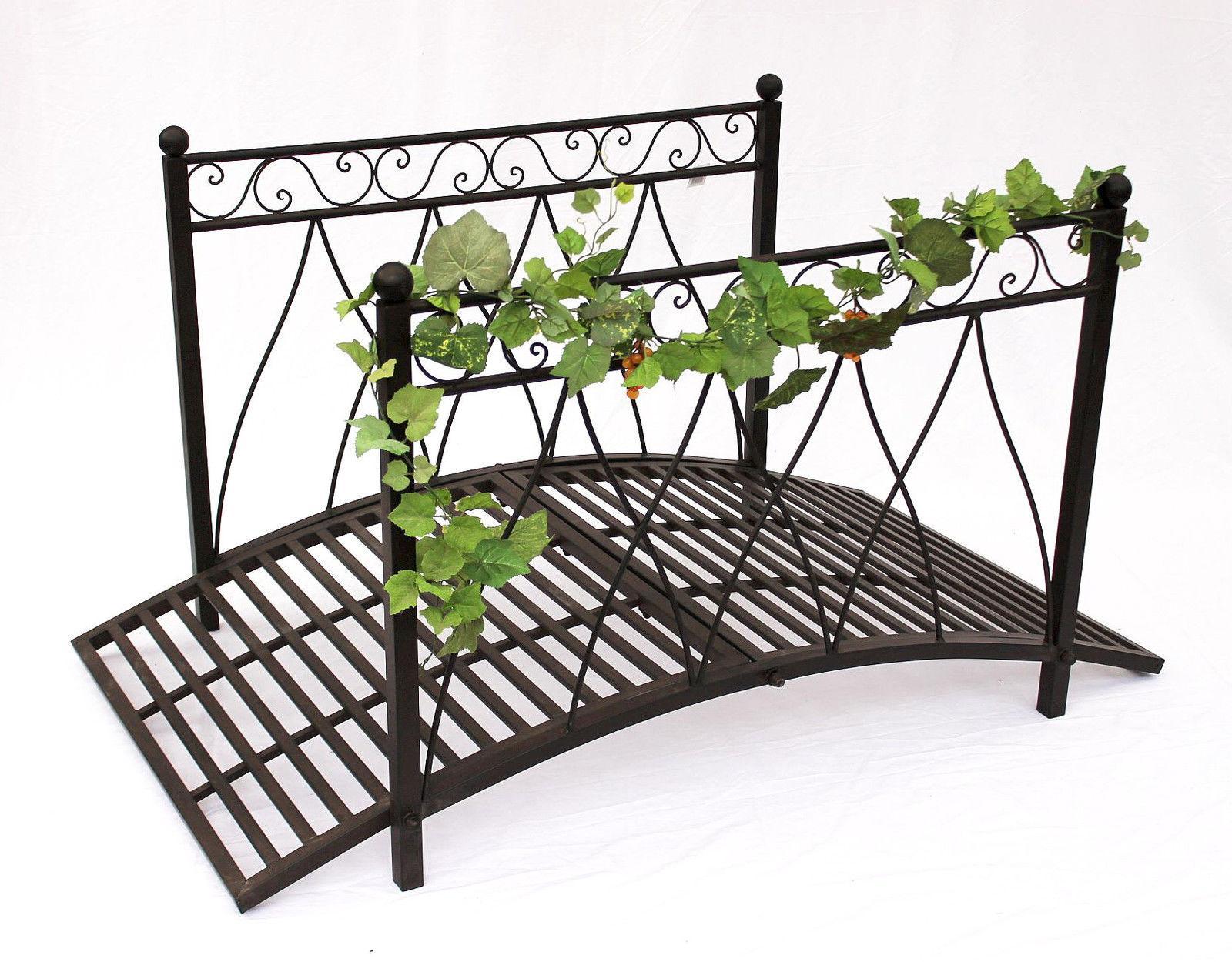 ponte in metallo 111252 eisenbr cke 145 cm giardino metallbr cke decorazione ebay. Black Bedroom Furniture Sets. Home Design Ideas