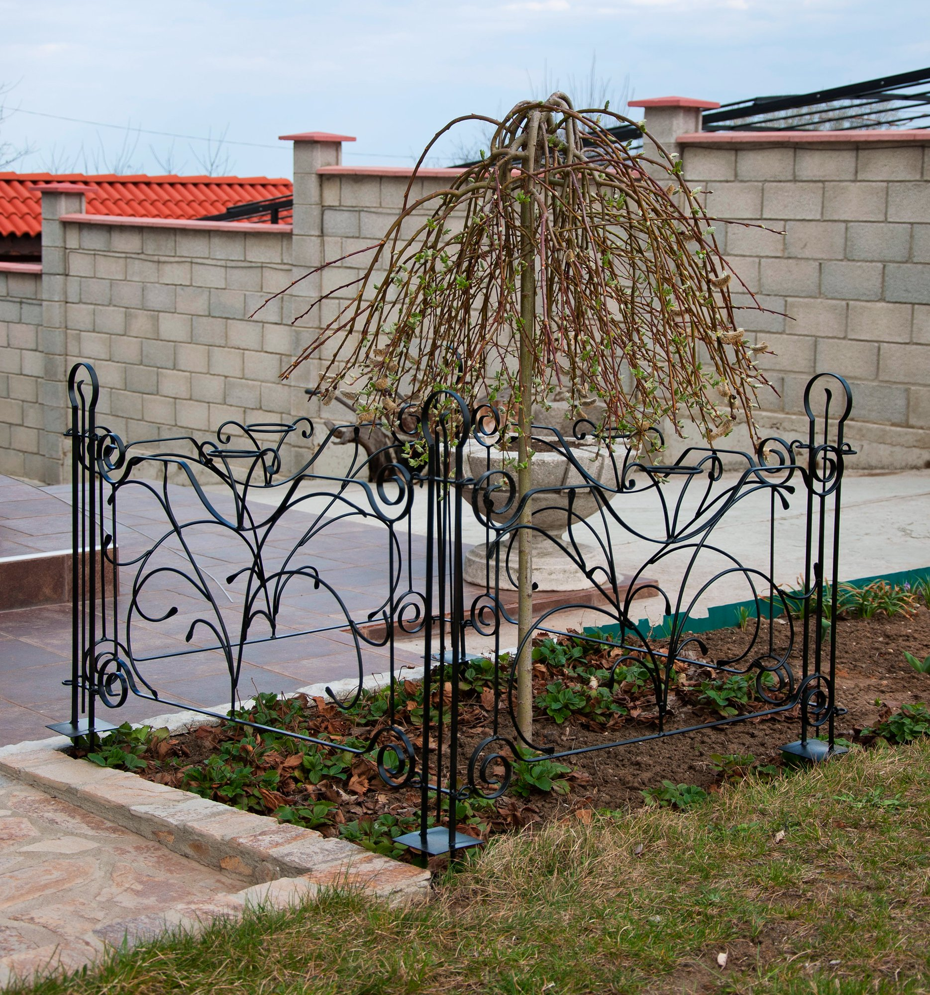 Designer Gartenzaun Dekor aunelement 90 cm Zaun Metall