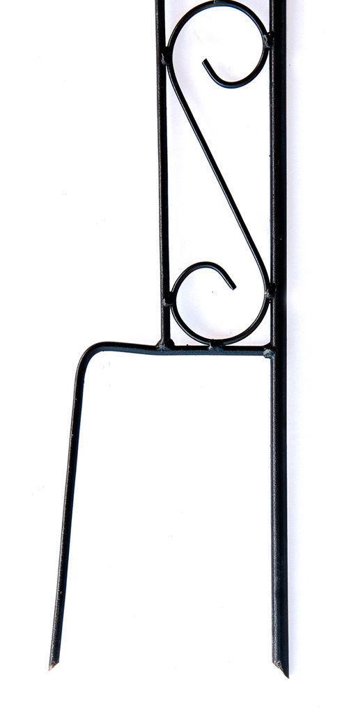 rankhilfe mit 1 halter rankgitter aus metall h 144cm kletterhilfe mit haken ebay. Black Bedroom Furniture Sets. Home Design Ideas