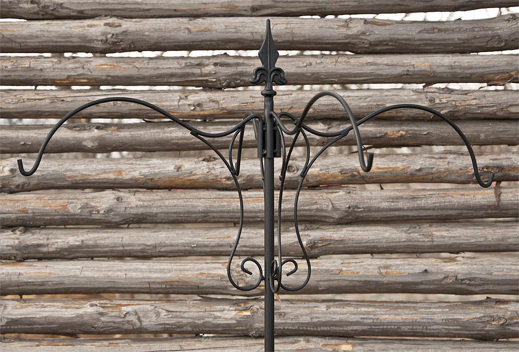 rankhilfe mit 4 halter rankgitter aus metall h 150 cm d 90 cm kletterhilfe ebay. Black Bedroom Furniture Sets. Home Design Ideas