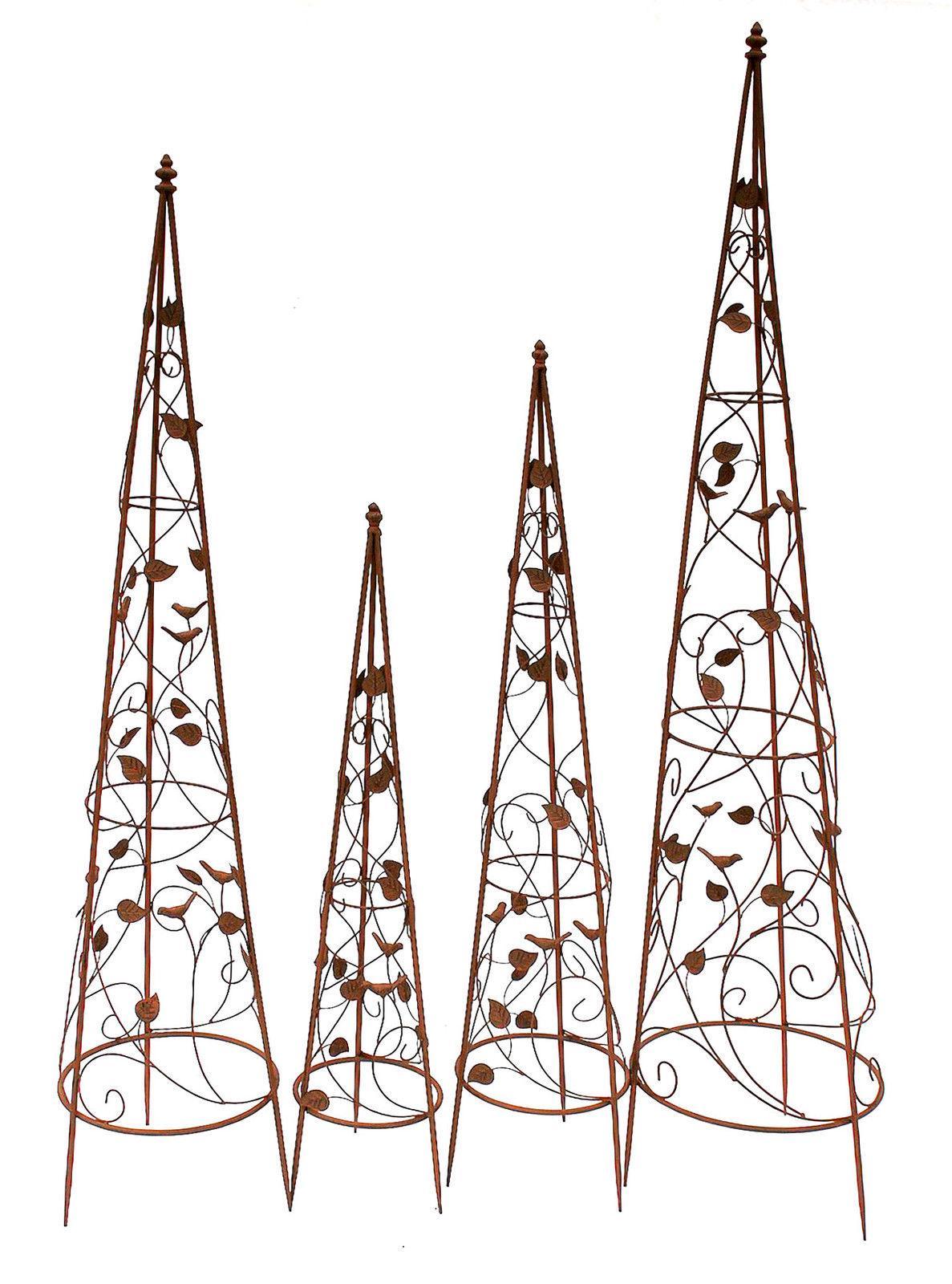 rankhilfe pyramide metall set 082547 kletterhilfe obelisk. Black Bedroom Furniture Sets. Home Design Ideas