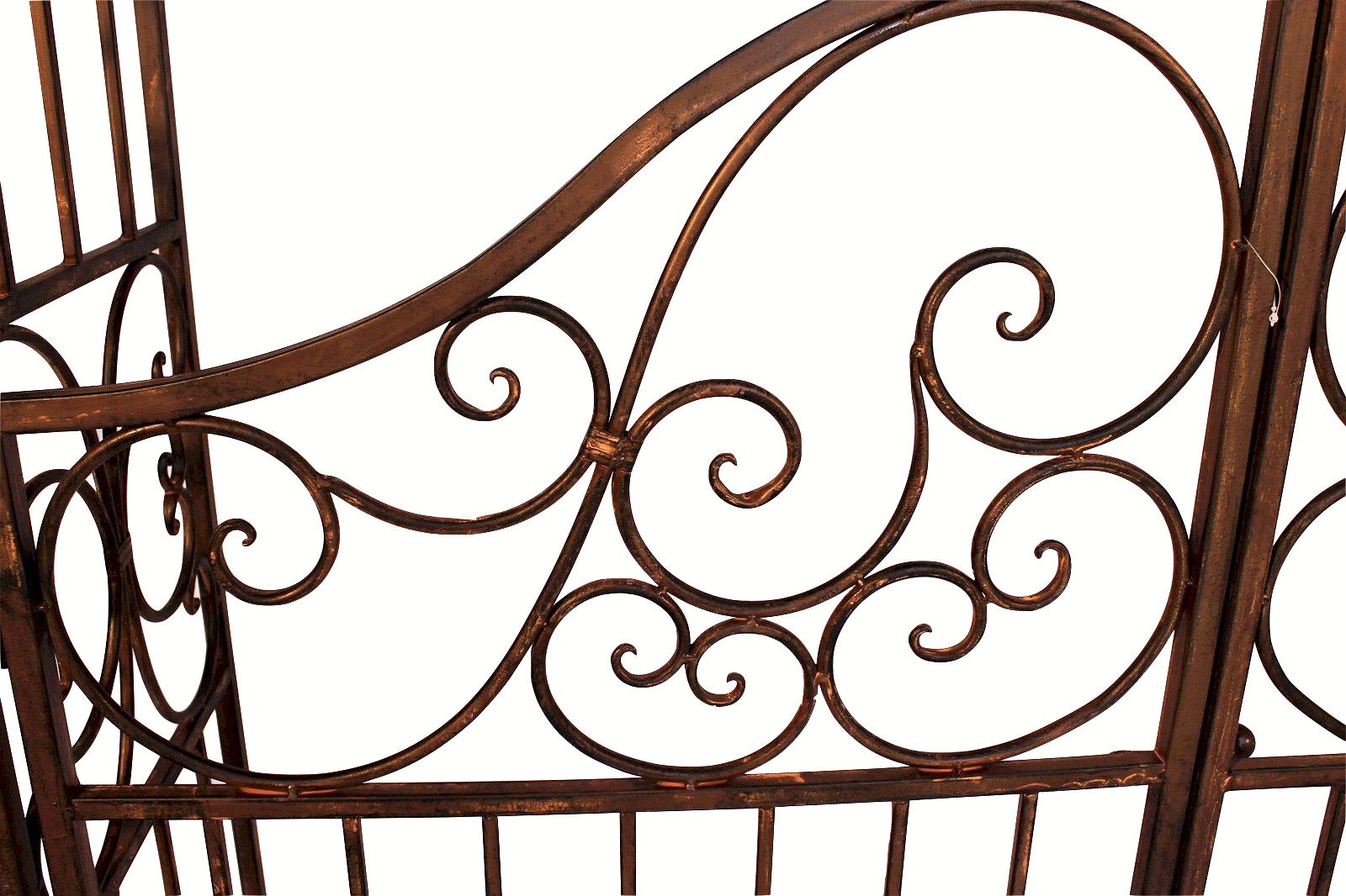 rosenbogen mit tor pforte 120853 aus metall schmiedeeisen 265x190 cm rankhilfe 4019111208539 ebay. Black Bedroom Furniture Sets. Home Design Ideas