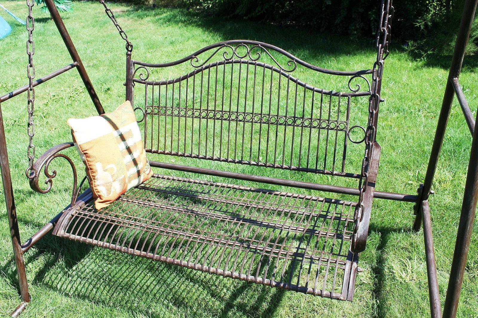 balançoire 082505 balancelle ancien métal / fer forgé balançoire de