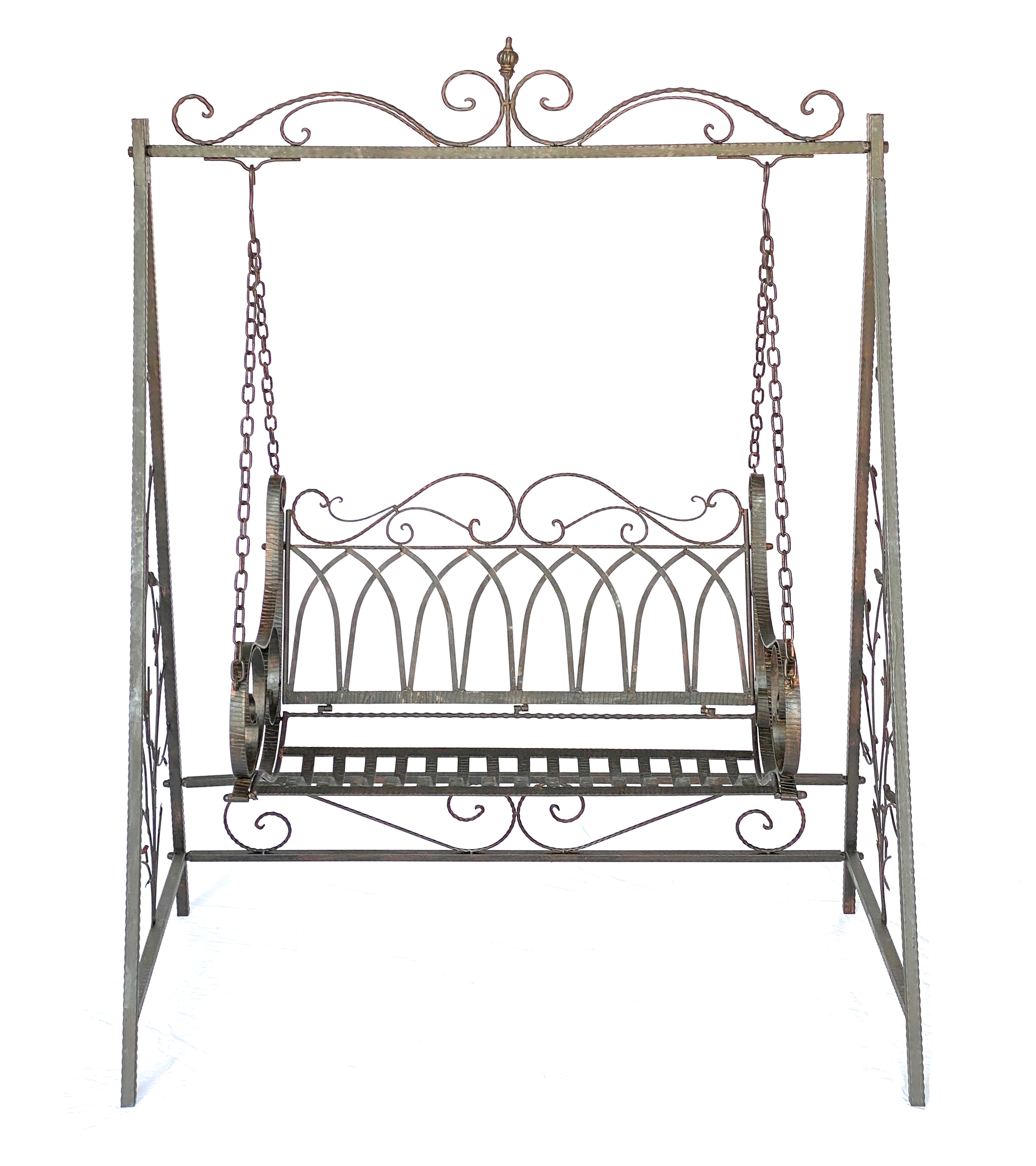 swing swing seat 18688 with chains metal wrought iron. Black Bedroom Furniture Sets. Home Design Ideas