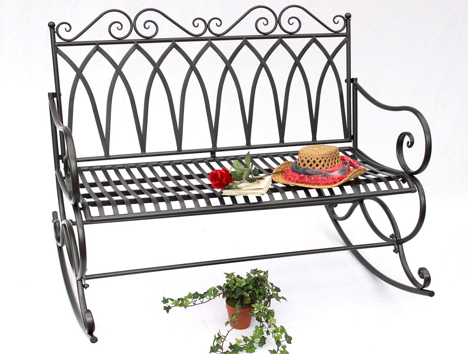 schaukelbank 132730 gartenbank aus metall bank 112 cm sitzbank garten schaukel ebay. Black Bedroom Furniture Sets. Home Design Ideas