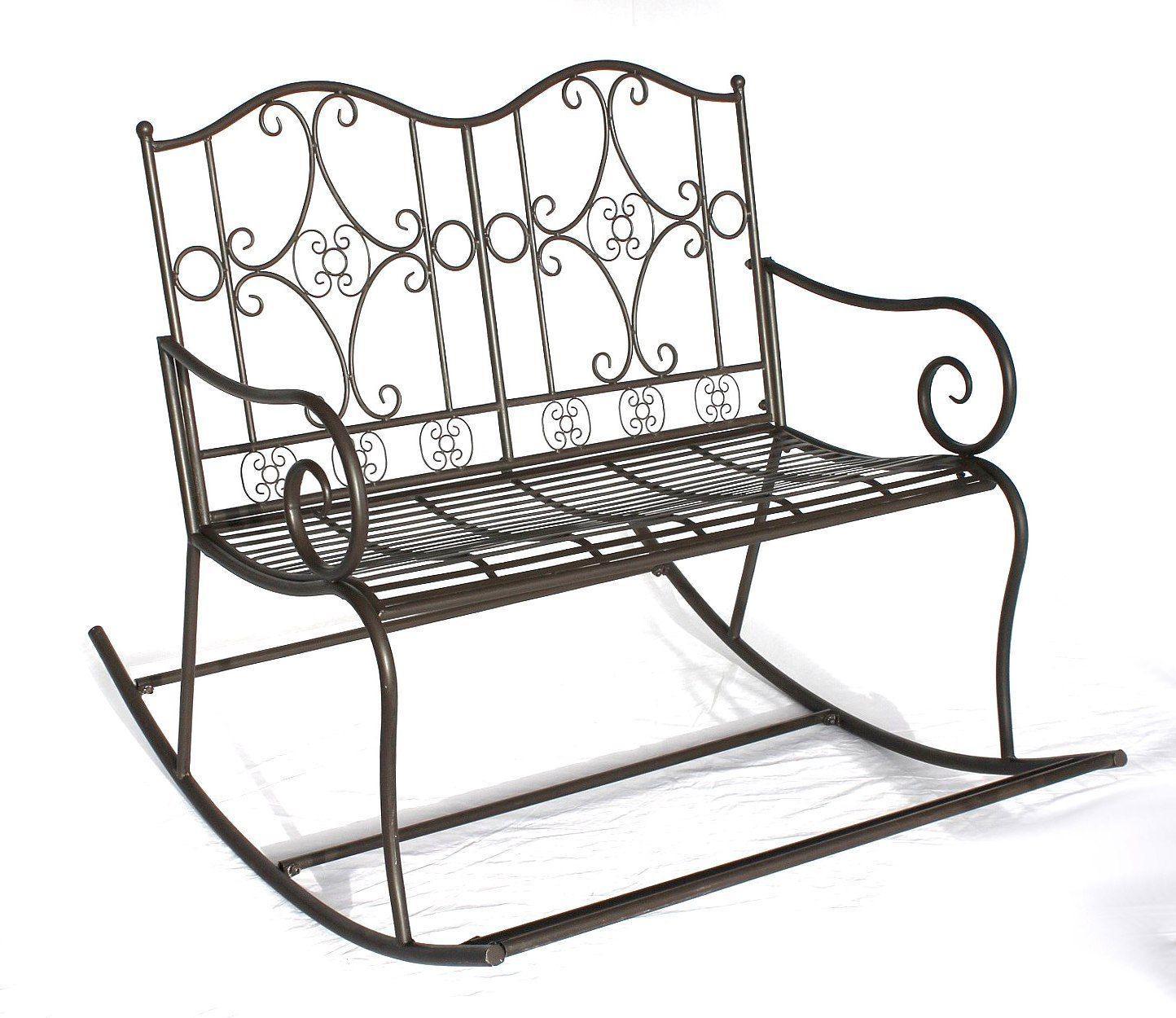 schaukelbank dy140489 gartenbank aus metall bank 105 cm sitzbank garten schaukel ebay. Black Bedroom Furniture Sets. Home Design Ideas