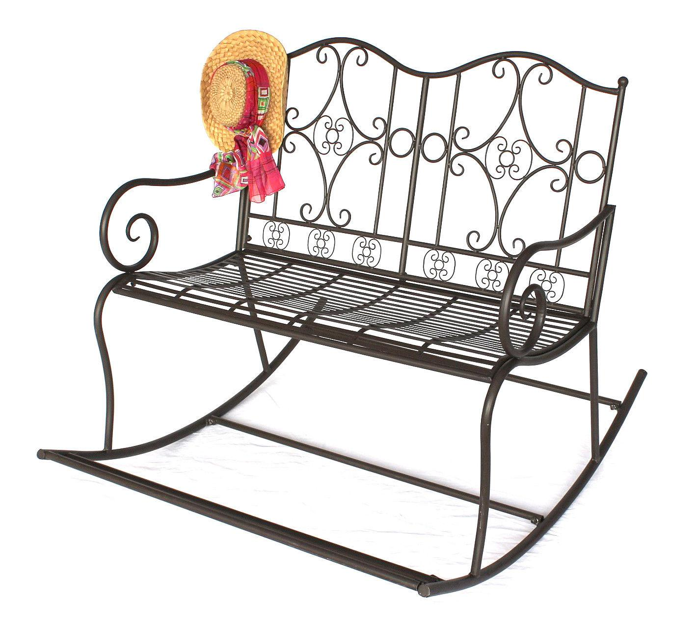 schaukelbank dy140489 gartenbank aus metall bank 105 cm sitzbank garten schaukel ebay. Black Bedroom Furniture Sets. Home Design Ideas