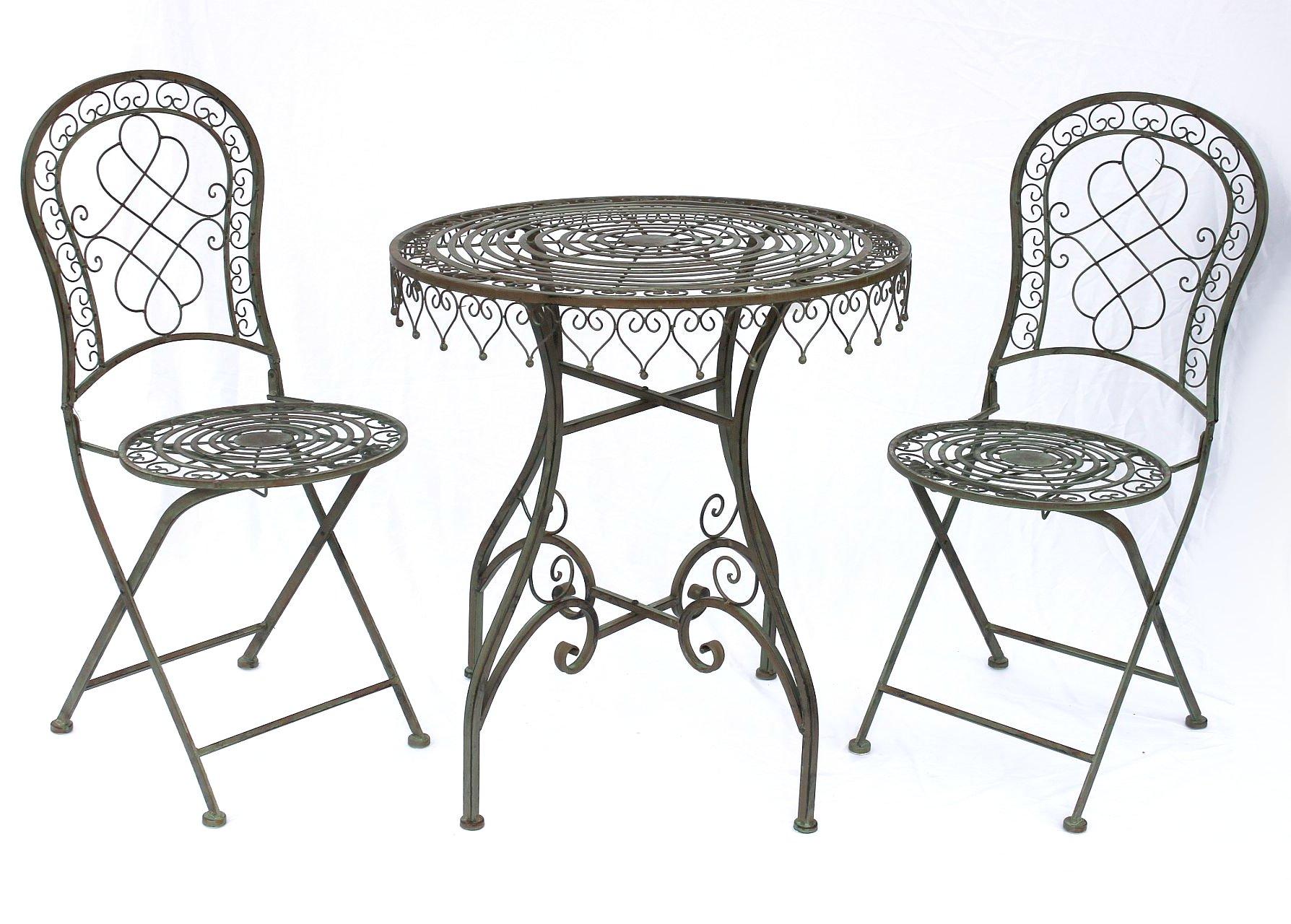 Sitzgruppe Malega 12184-85 Gartentisch Gartenstuhl Tisch Gartengarnitur 2 Stk