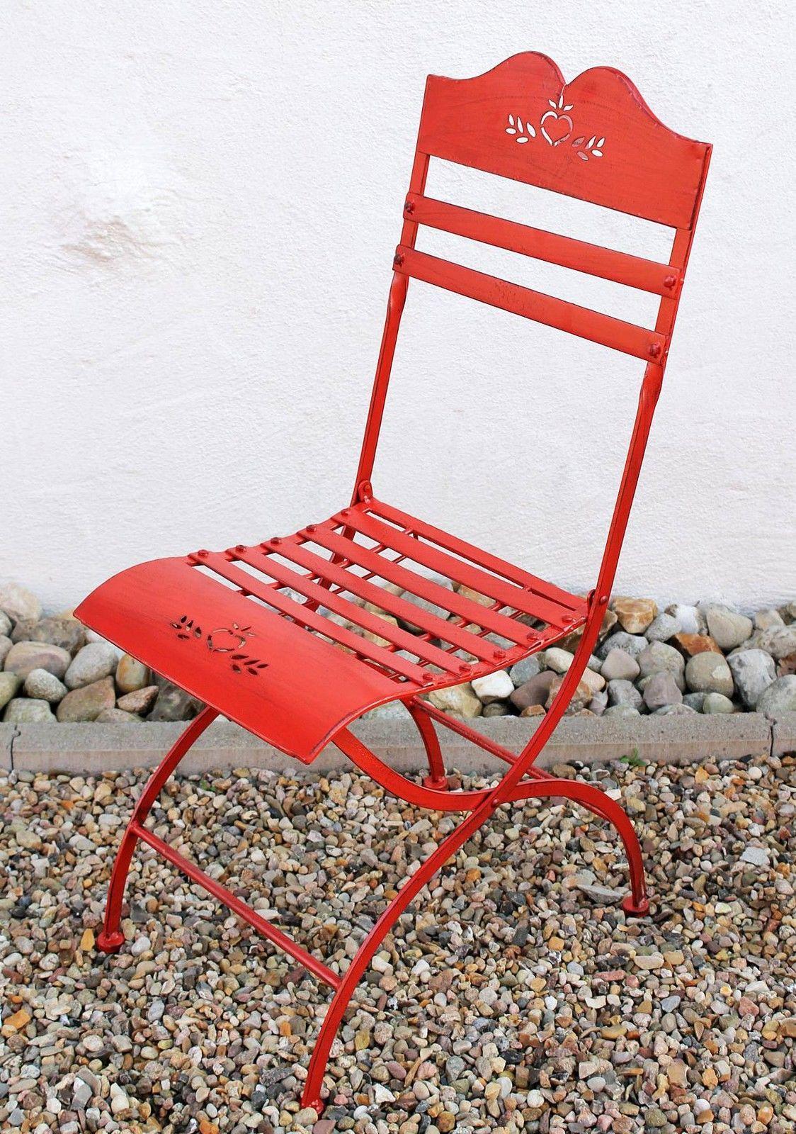 Sitzgruppe Passion Tisch Mit 2 Stühle Set Aus Metall Rot