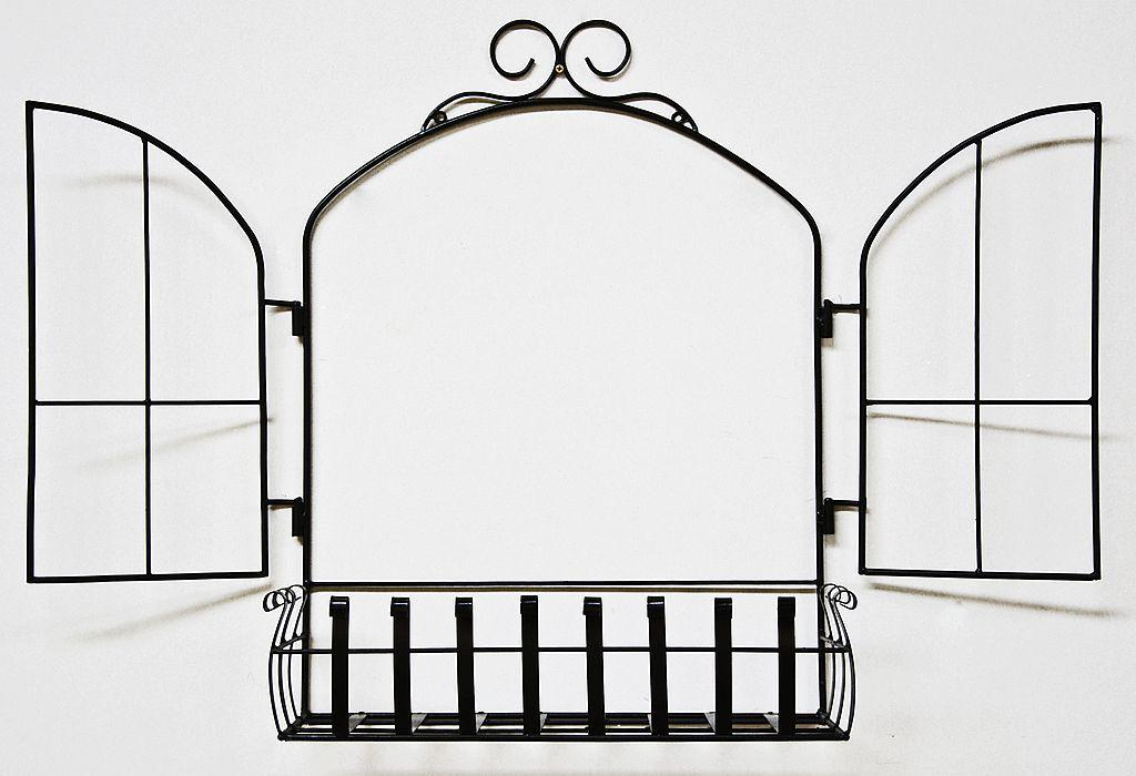 wandblumenhalter fenster blumenst nder aus metall wandregal blumenregal regal ebay. Black Bedroom Furniture Sets. Home Design Ideas