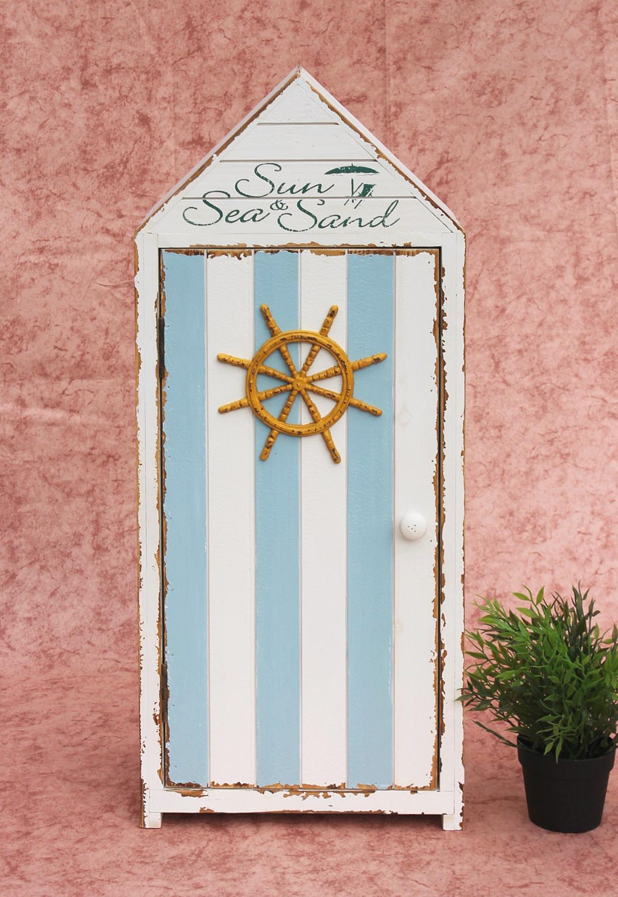 badschrank 16a055 s maritim regal 77cm badregal shabby. Black Bedroom Furniture Sets. Home Design Ideas