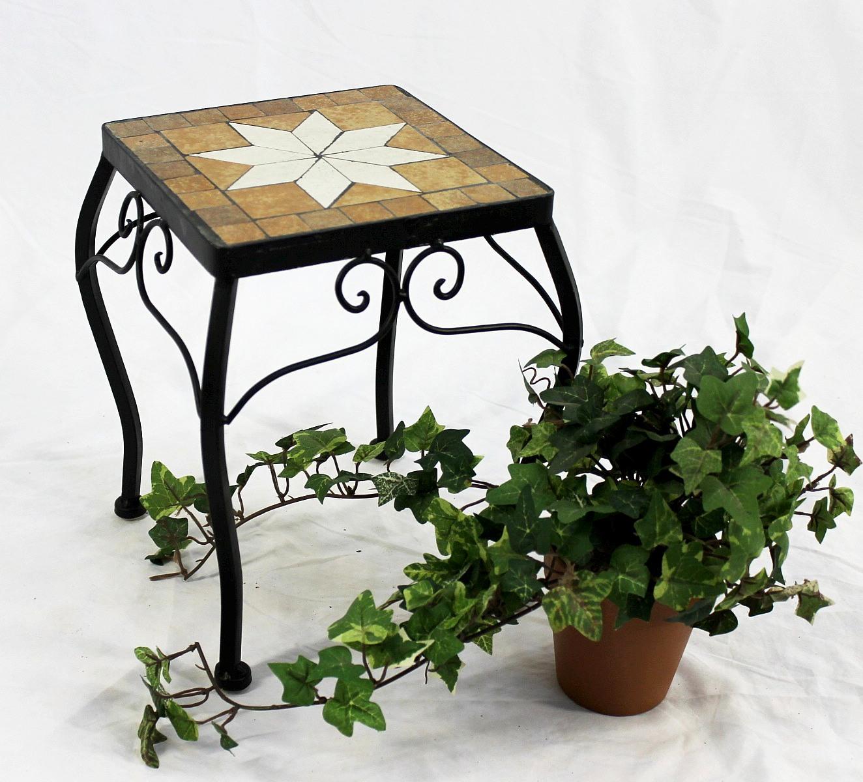 Blumenhocker merano mosaik 12015 blumenst nder 21 38 cm for Mosaik beistelltisch