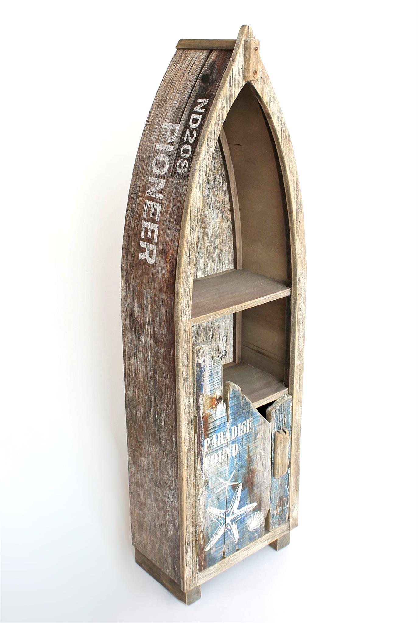 regal boot schrank bootsform holz antik mr16 maritim badregal badschrank braun ebay. Black Bedroom Furniture Sets. Home Design Ideas