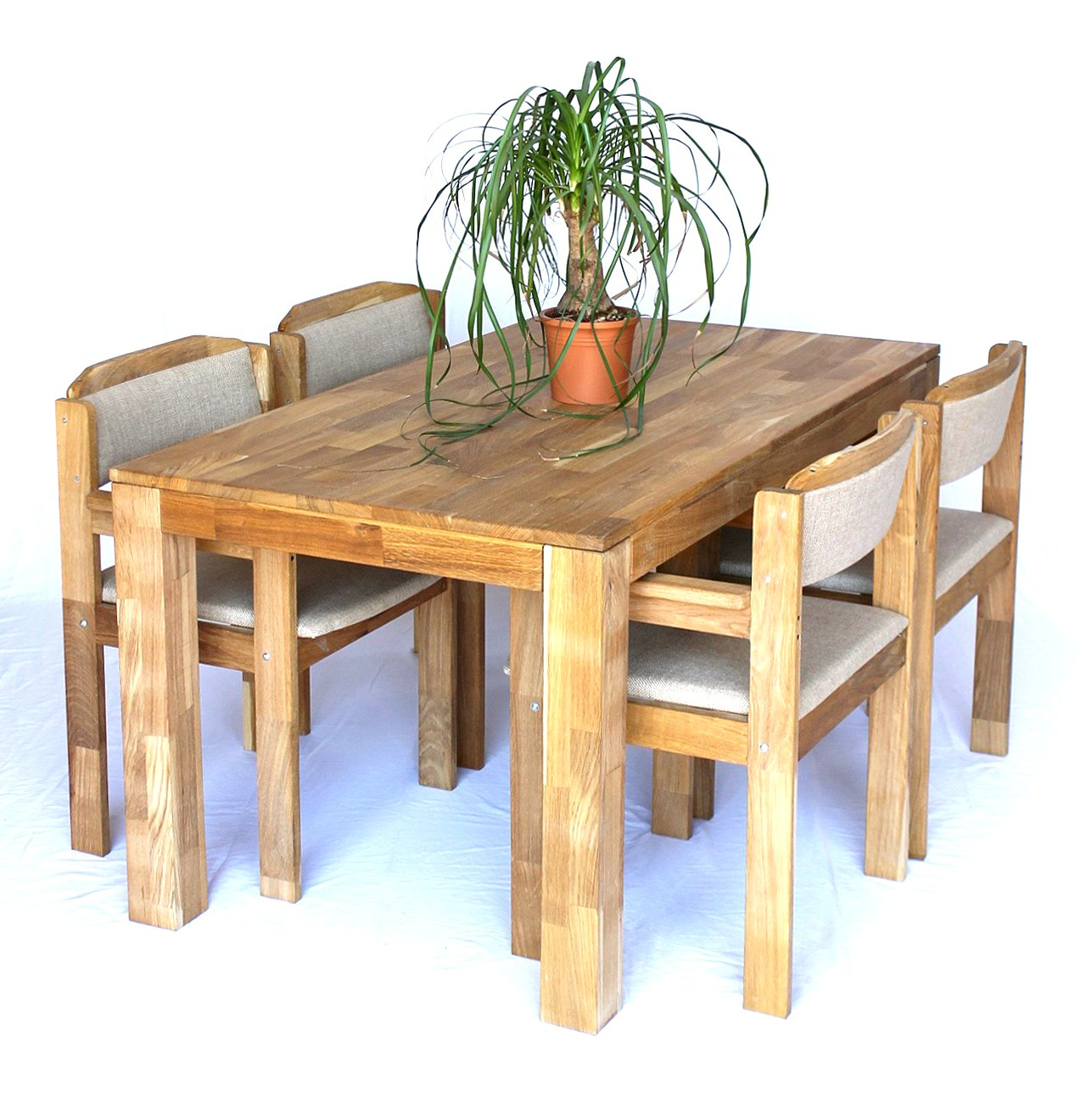 dandibo sitzgruppe esstisch 150 cm x 83 cm mit 4 st hlen. Black Bedroom Furniture Sets. Home Design Ideas