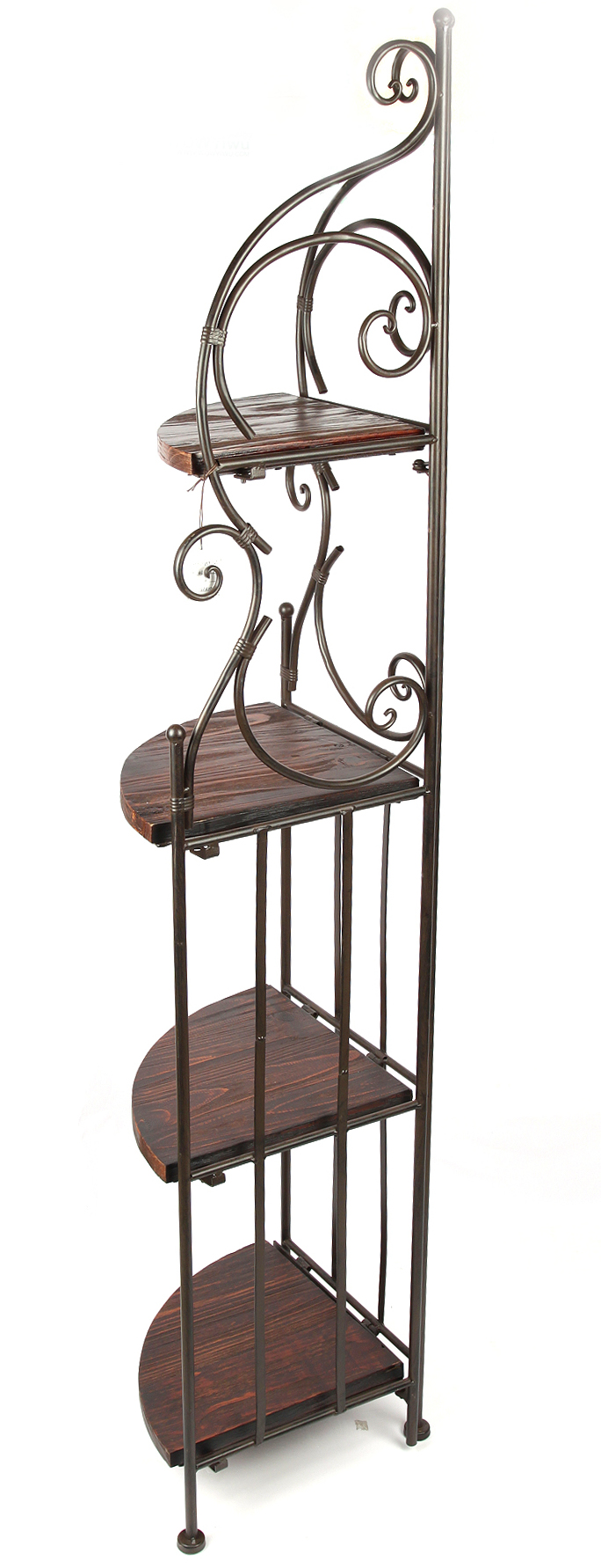 regal eckregal braun hx12579 schmiedeeisen metall 160 cm mit 4 ablagen b cherreg 1234567120171. Black Bedroom Furniture Sets. Home Design Ideas