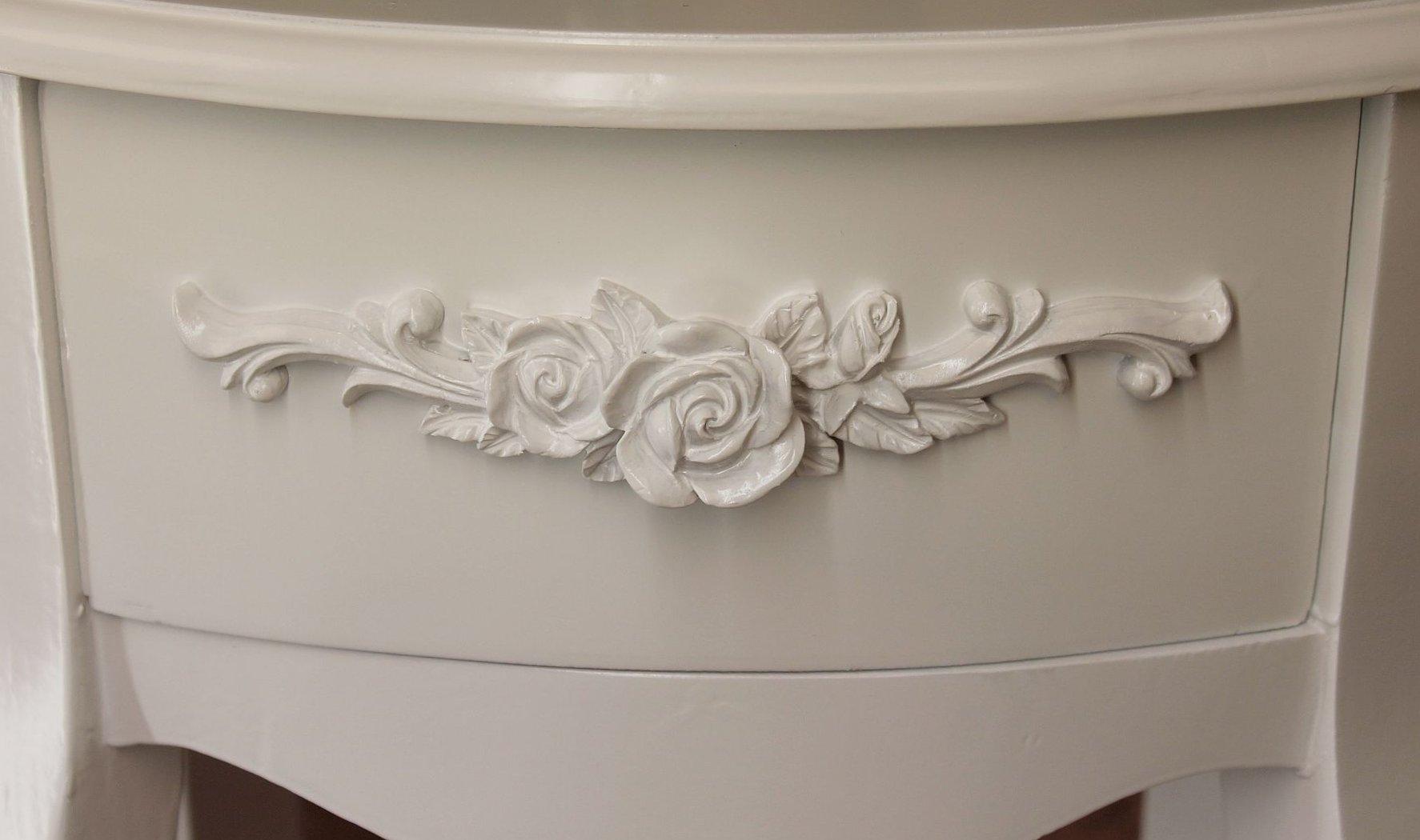 schrank romance wei hc010 kommode aus holz h 67 cm. Black Bedroom Furniture Sets. Home Design Ideas