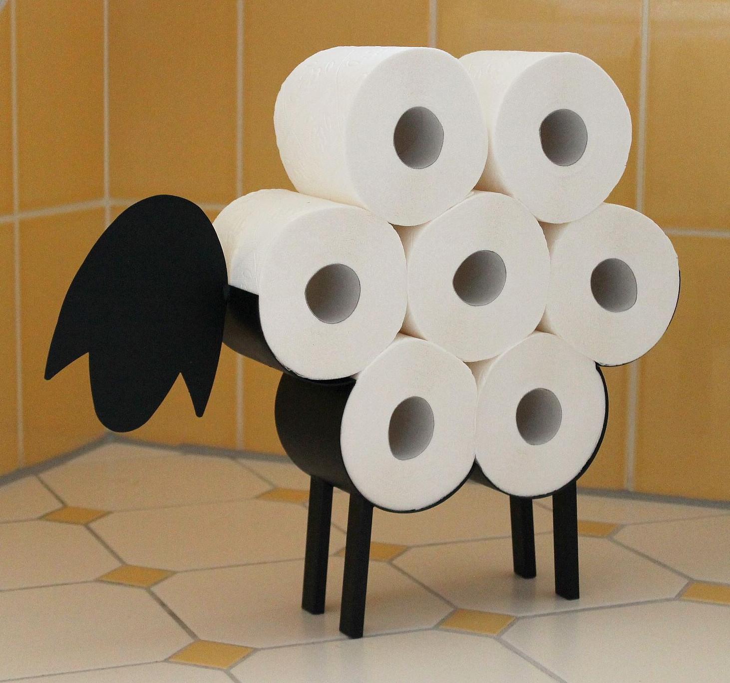 Toilettenpapierhalter Rollenhalter WC Papierhalter Klopapierhalter doppelt
