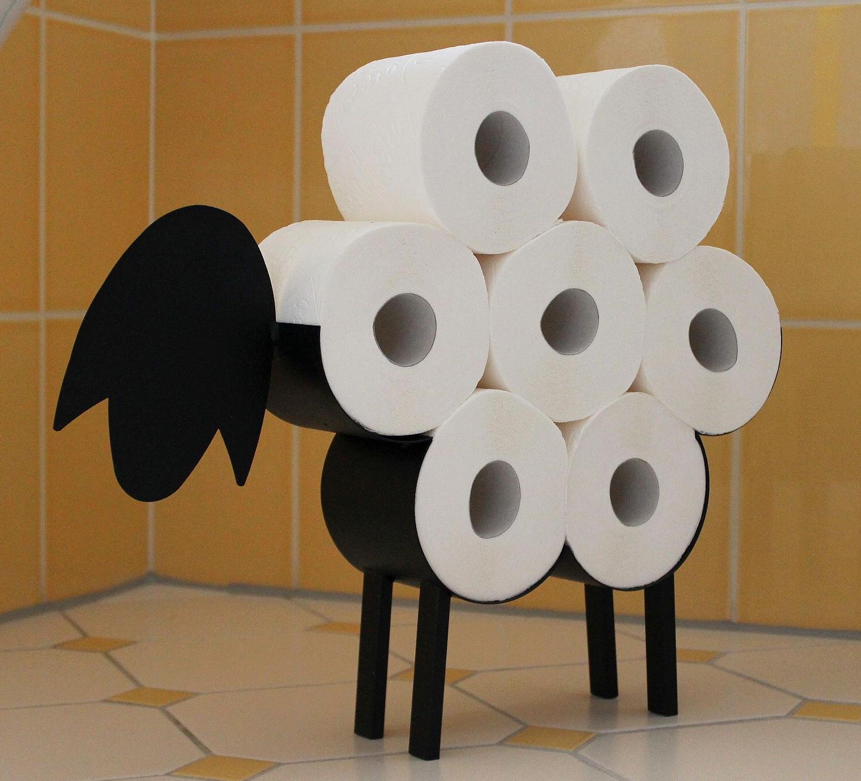 toilettenpapierhalter schaf wc rollenhalter stehend toilettenrollenhalter lustig ebay. Black Bedroom Furniture Sets. Home Design Ideas