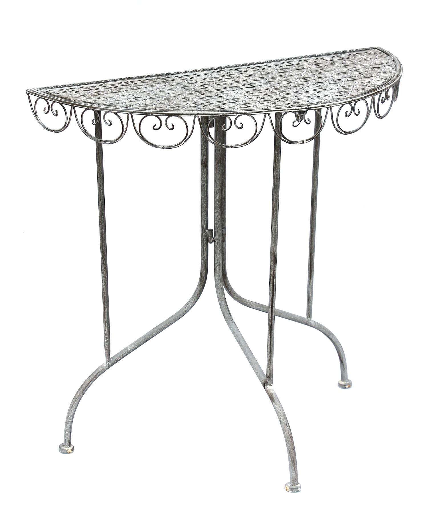 wandtisch triora 20735 konsolentisch beistelltisch aus metall 80 cm gartentisch ebay. Black Bedroom Furniture Sets. Home Design Ideas