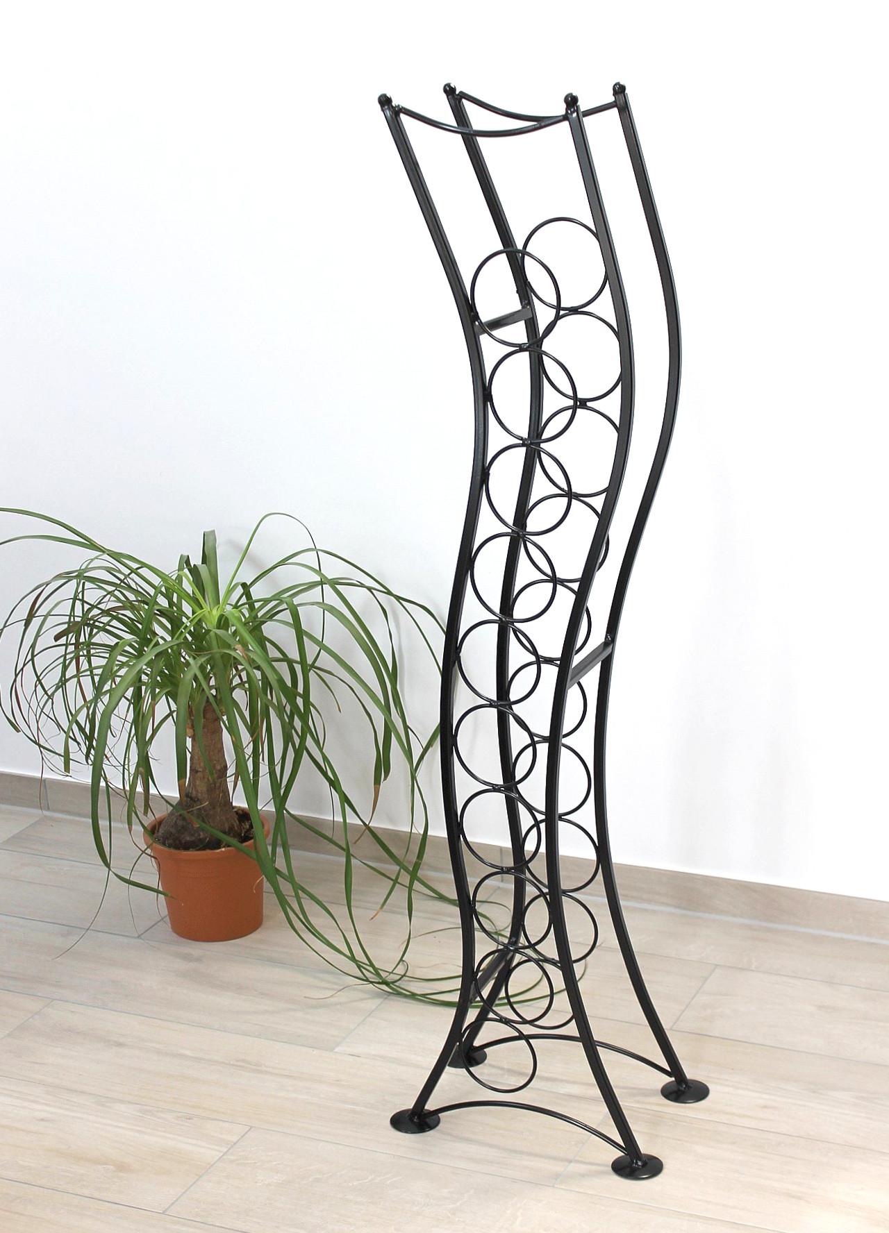 weinregal st099 flaschenst nder 120 cm flaschenhalter flaschenregal aus metall 4260407935299 ebay. Black Bedroom Furniture Sets. Home Design Ideas
