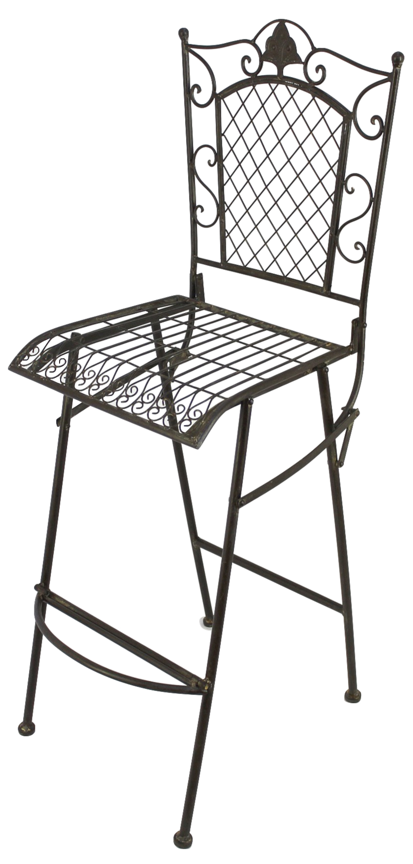 Tabouret De Bar Chaise Pliante 20833 Ancien Metal Jardin Haute