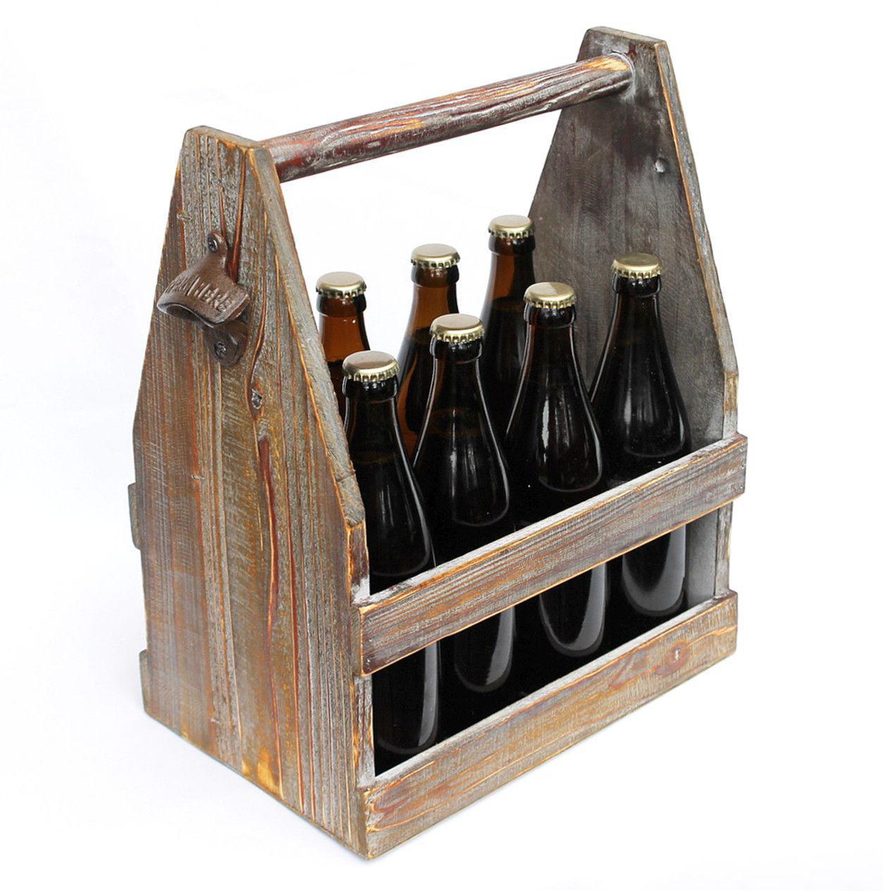 biertr ger mit flaschen ffner 5087 bierkiste aus holz 38 cm flaschentr ger ebay. Black Bedroom Furniture Sets. Home Design Ideas
