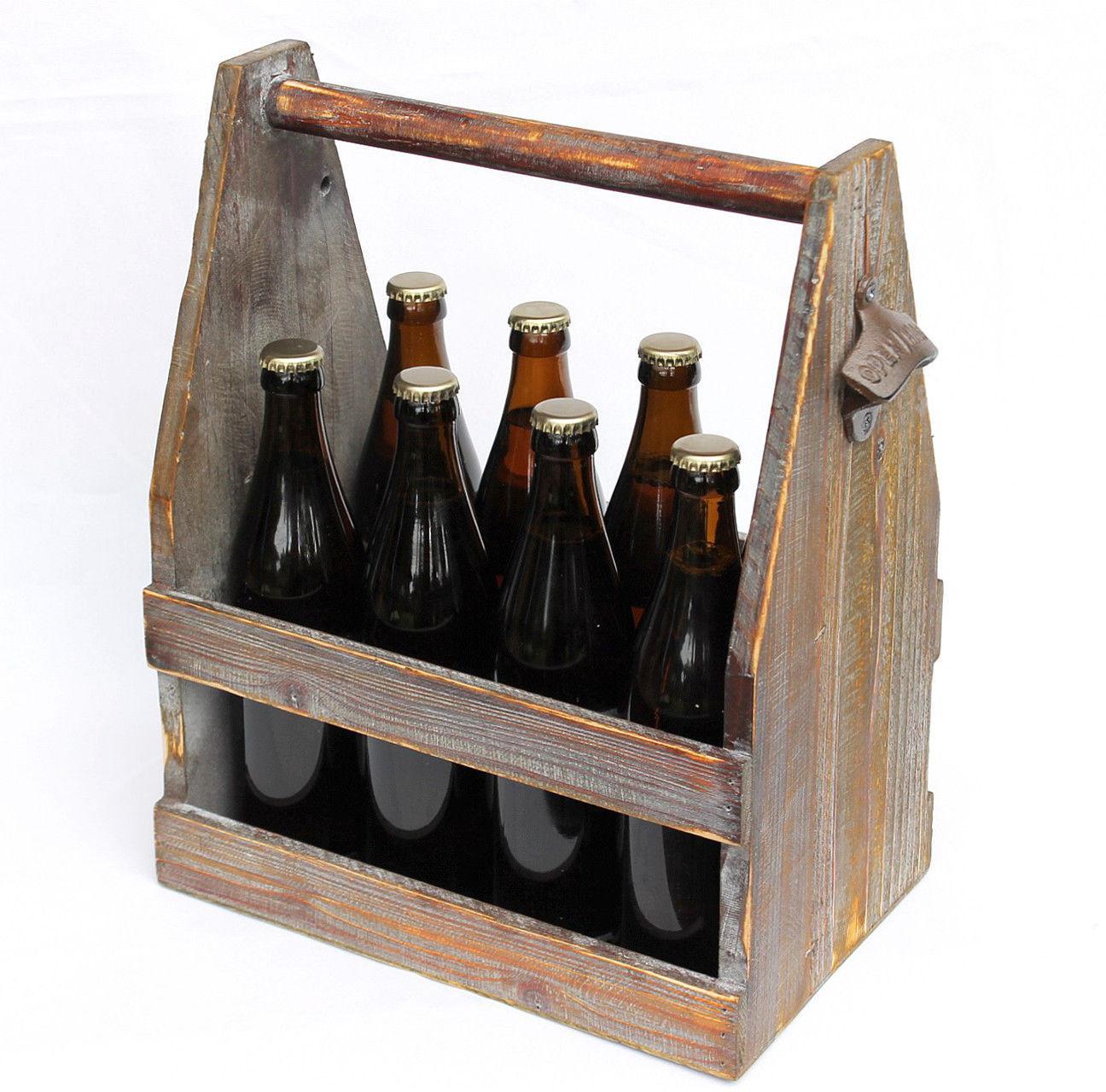 bierträger mit flaschenöffner 5087 bierkiste aus holz 38 cm