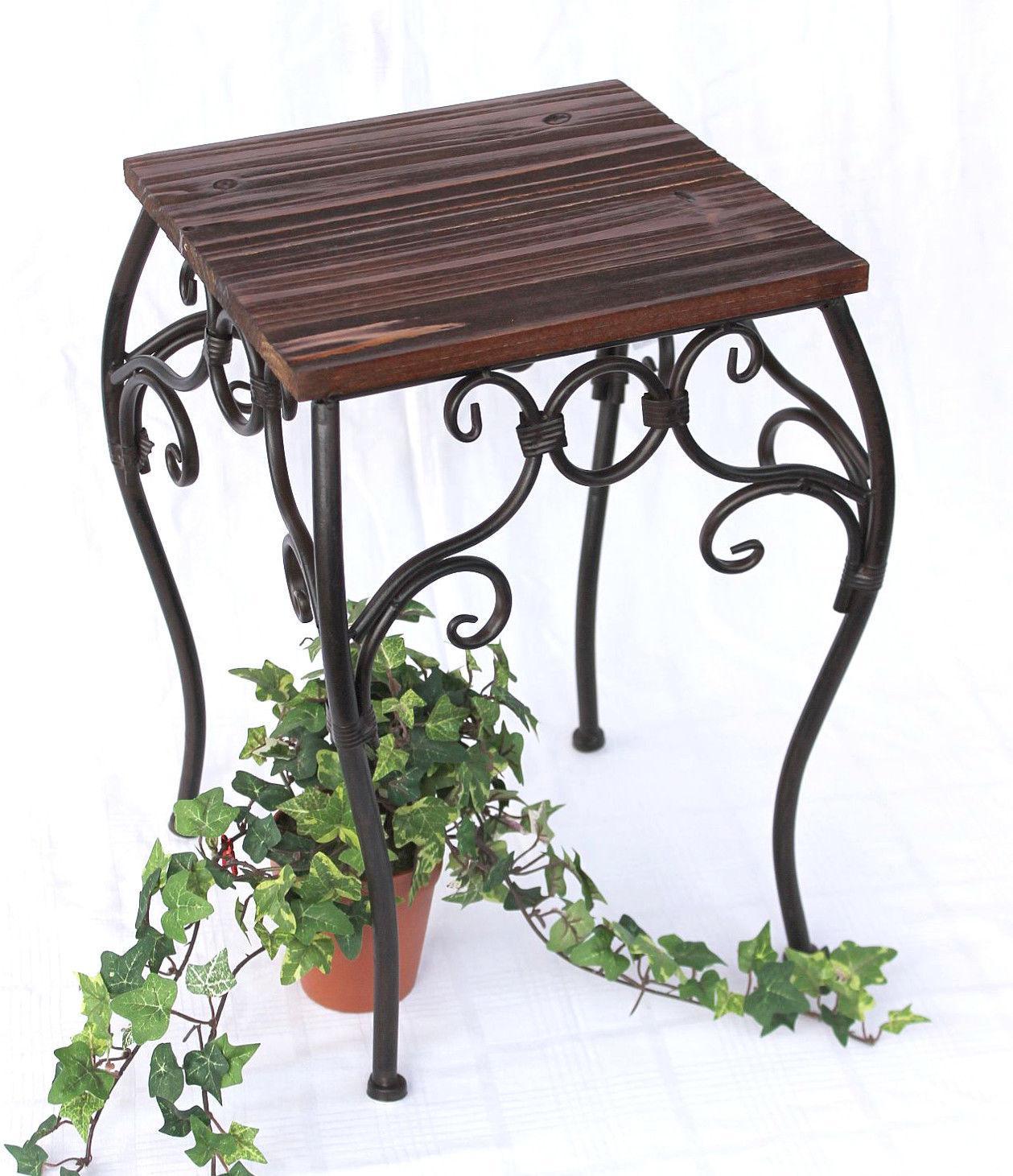 blumenhocker hx12593 blumenst nder 34 43cm eckig blumens ule tisch beistelltisch ebay. Black Bedroom Furniture Sets. Home Design Ideas