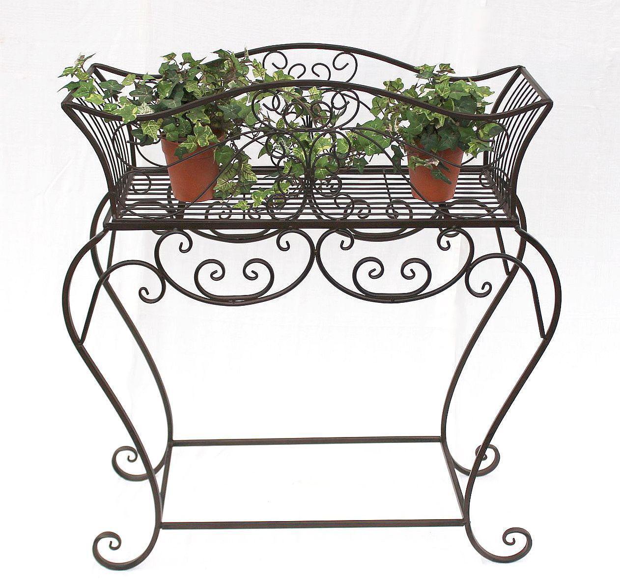 blumenst nder 72 85 cm blumenbank 12554 metall blumenregal beistelltisch tisch ebay. Black Bedroom Furniture Sets. Home Design Ideas