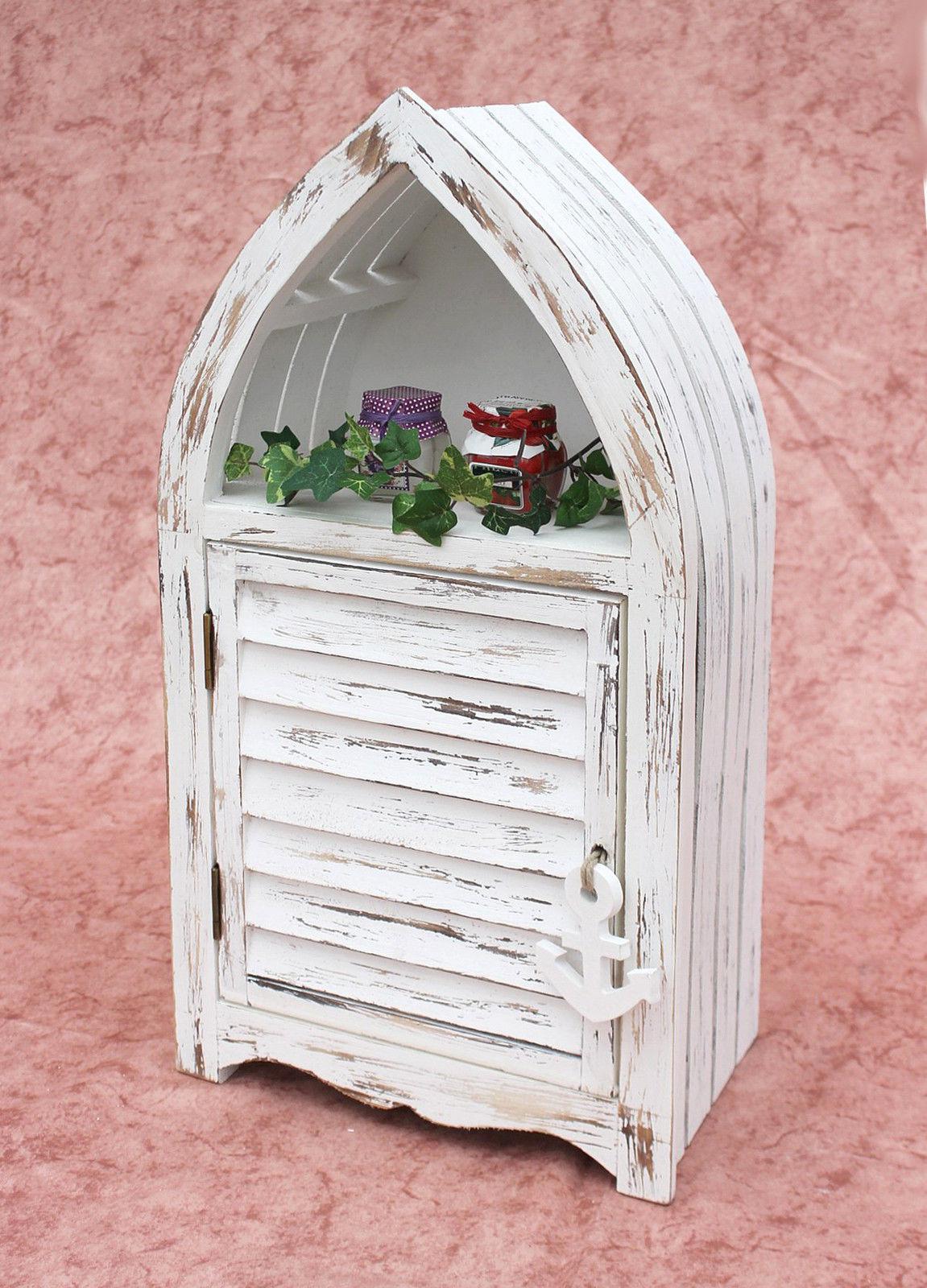 boot schrank 1200011 s regal 60cm badregal shabby badschrank wei badm bel ebay. Black Bedroom Furniture Sets. Home Design Ideas