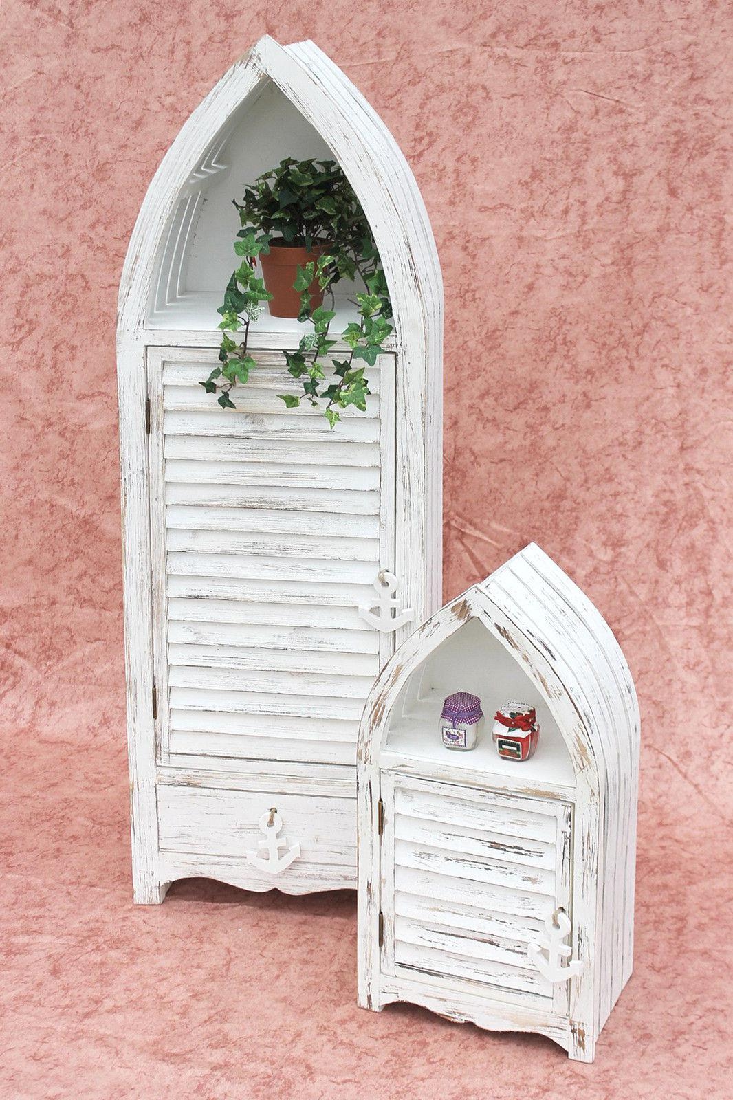 boot schrank badregal 2er set 120001 regal 60 123 cm shabby badschrank wei holz 4019110120016. Black Bedroom Furniture Sets. Home Design Ideas