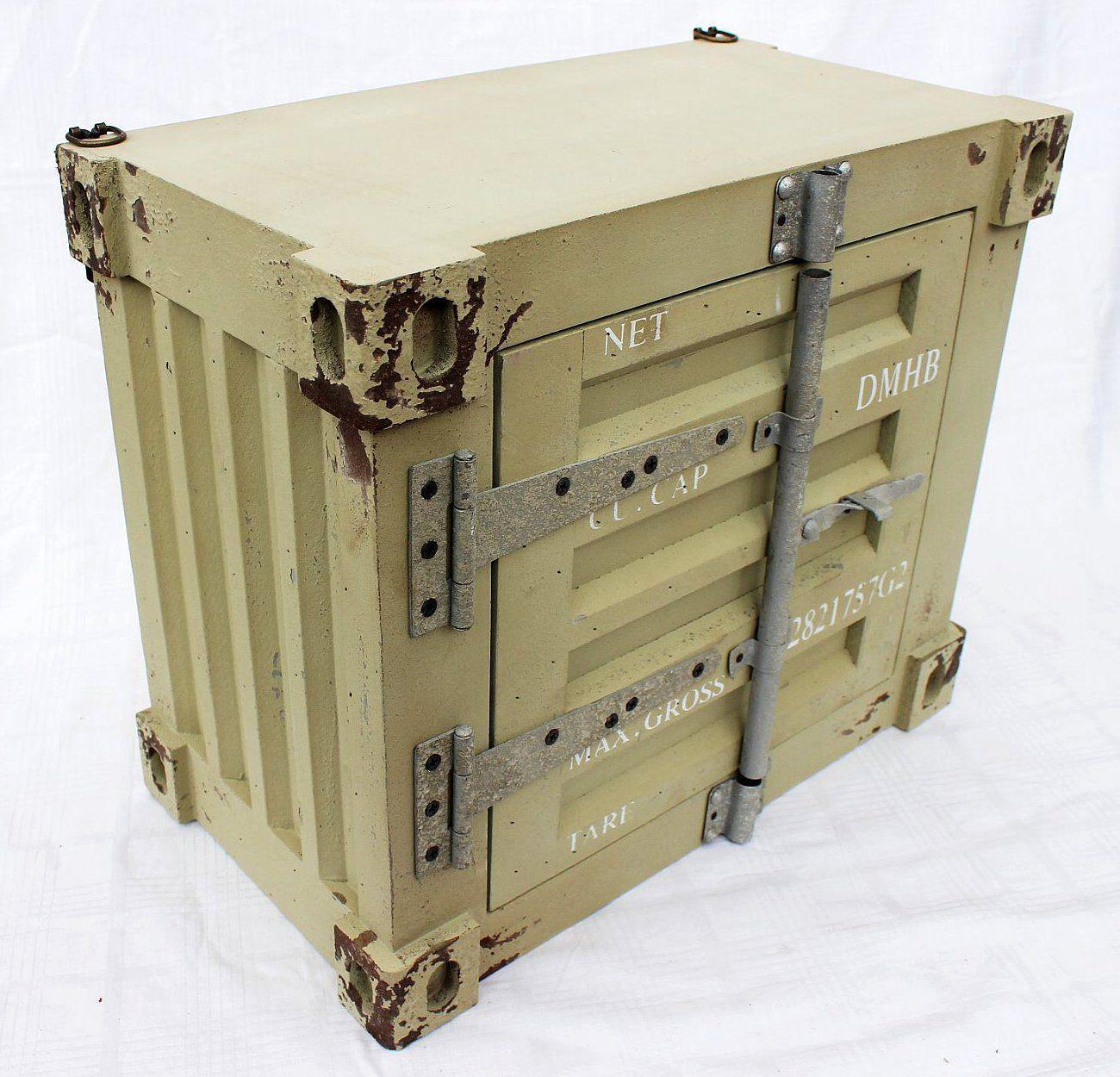 Cargo container schrank 42 cm loft 83022 wandschrank for Schrank container