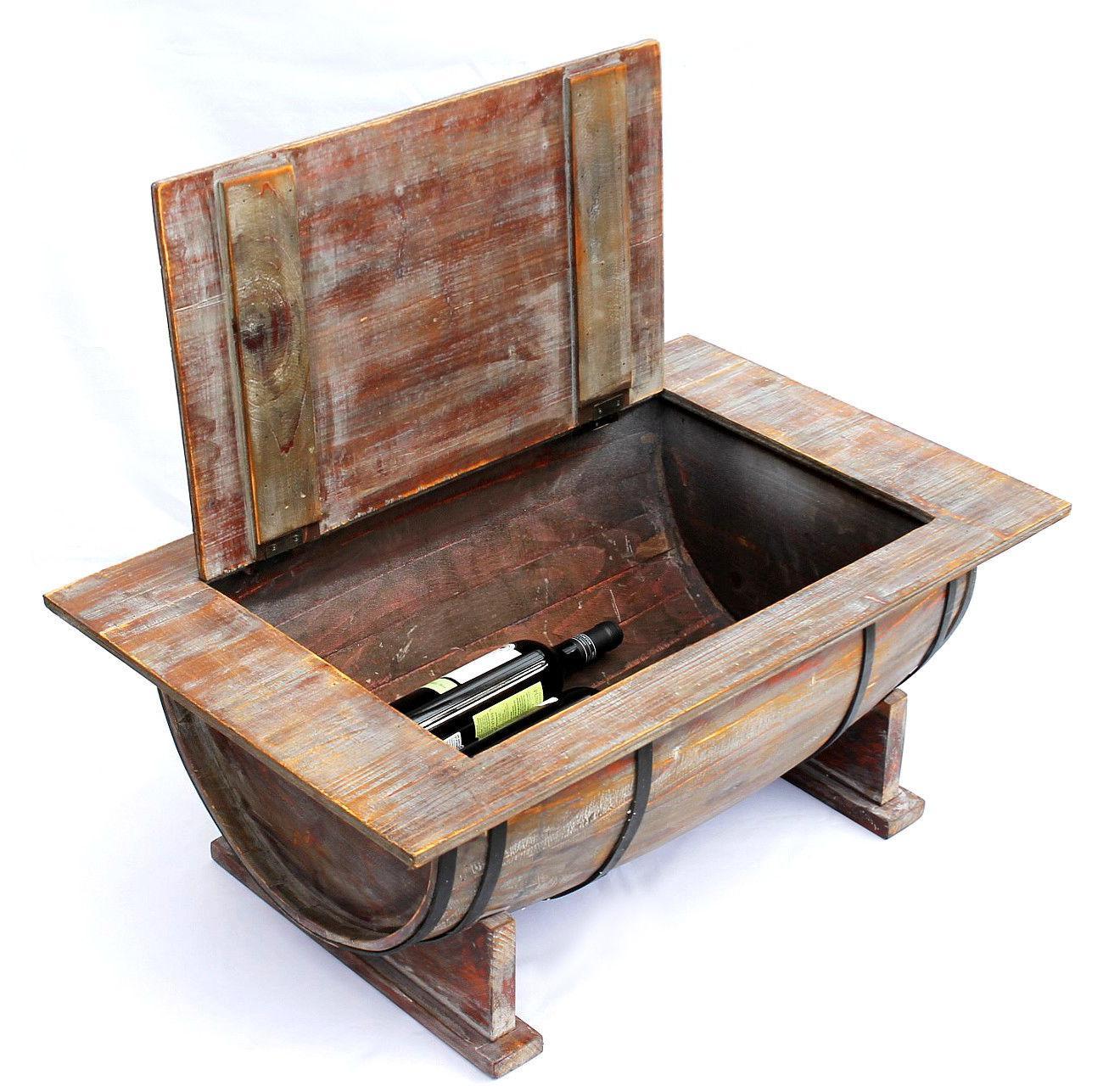 couchtisch weinfass 5084 tisch aus holz weinregal 80 cm beistelltisch wein bar 4260407933448 ebay. Black Bedroom Furniture Sets. Home Design Ideas