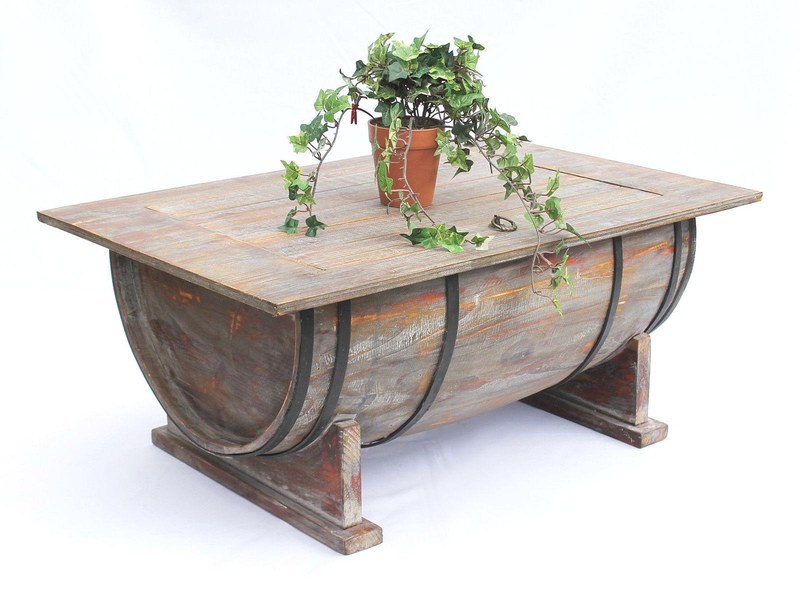 couchtisch weinfass 5084 tisch aus holz weinregal 80 cm. Black Bedroom Furniture Sets. Home Design Ideas