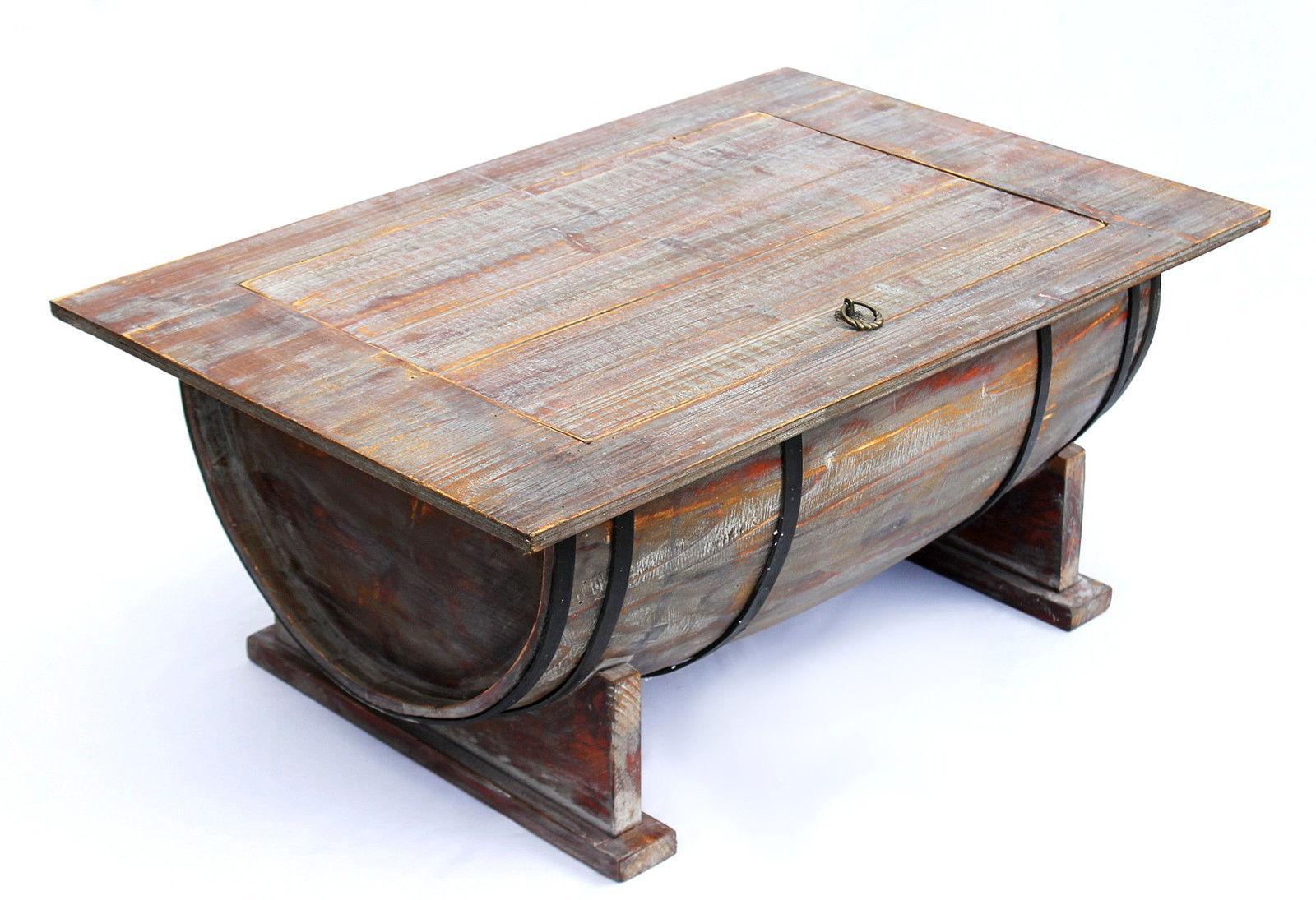 Details Zu Couchtisch Weinfass 5084 Tisch Aus Holz Weinregal 80 Cm Beistelltisch Wein Bar