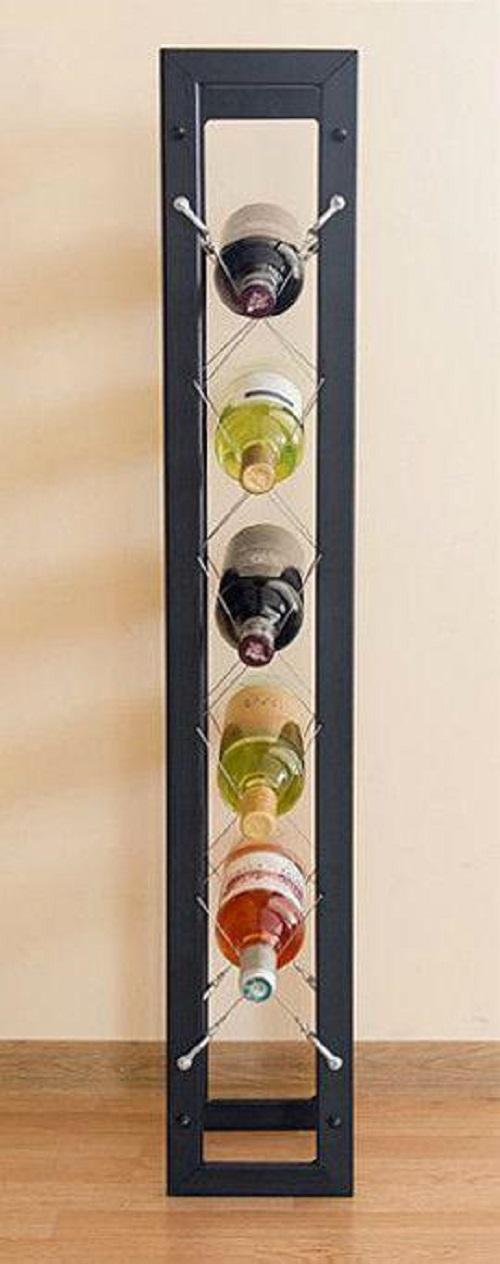 designer weinregal pit 100 cm aus metall flaschenst nder. Black Bedroom Furniture Sets. Home Design Ideas