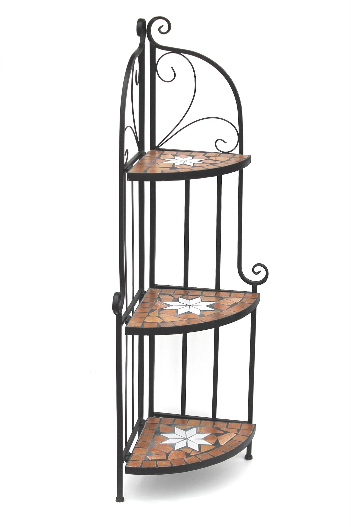 eckregal mosaik merano 12005 b cherregal 114 cm aus metall schmiedeeisen regal ebay. Black Bedroom Furniture Sets. Home Design Ideas