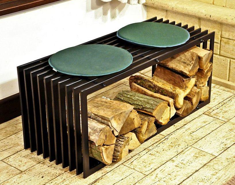 support de bois chemin e banc d style 100 cm tag re en panier pour ebay. Black Bedroom Furniture Sets. Home Design Ideas