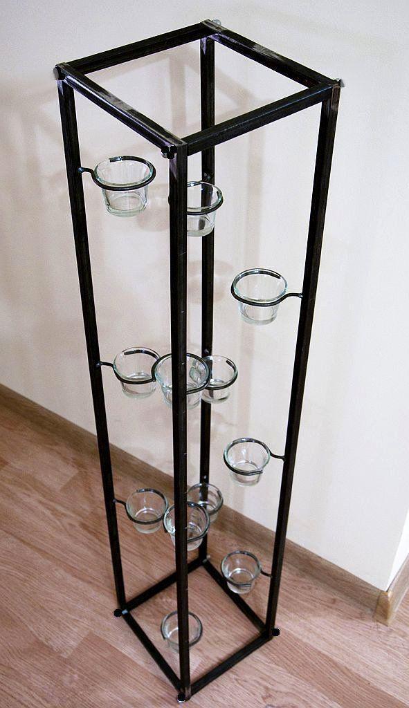lichts ule teelichthalter 100 cm kerzenst nder f r 12 teelichter 93004 ebay. Black Bedroom Furniture Sets. Home Design Ideas