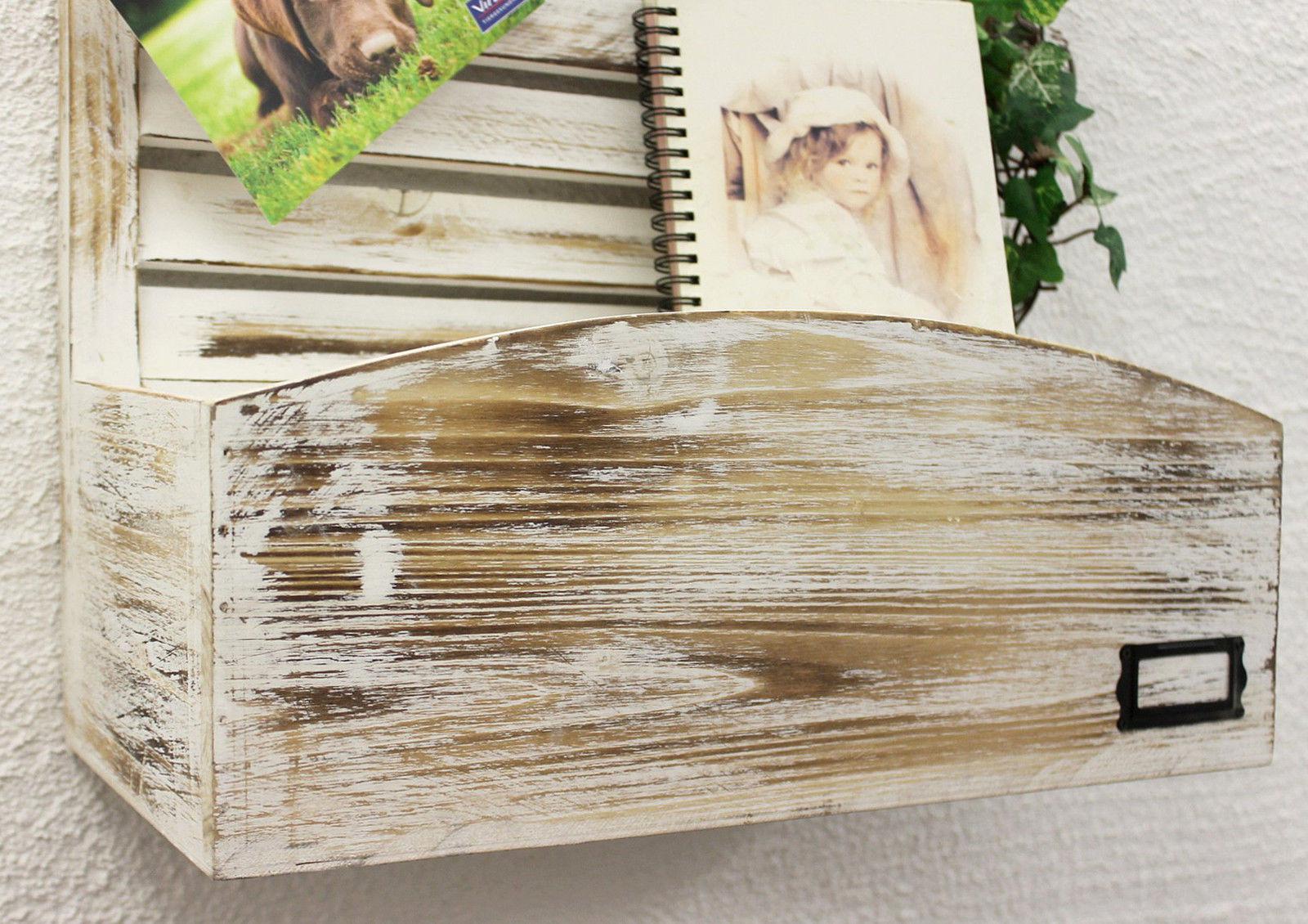 Memoboard mit briefablage yx 14b415 pinnwand 65 cm wandregal memotafel shabby ebay - Pinnwand mit ablage ...